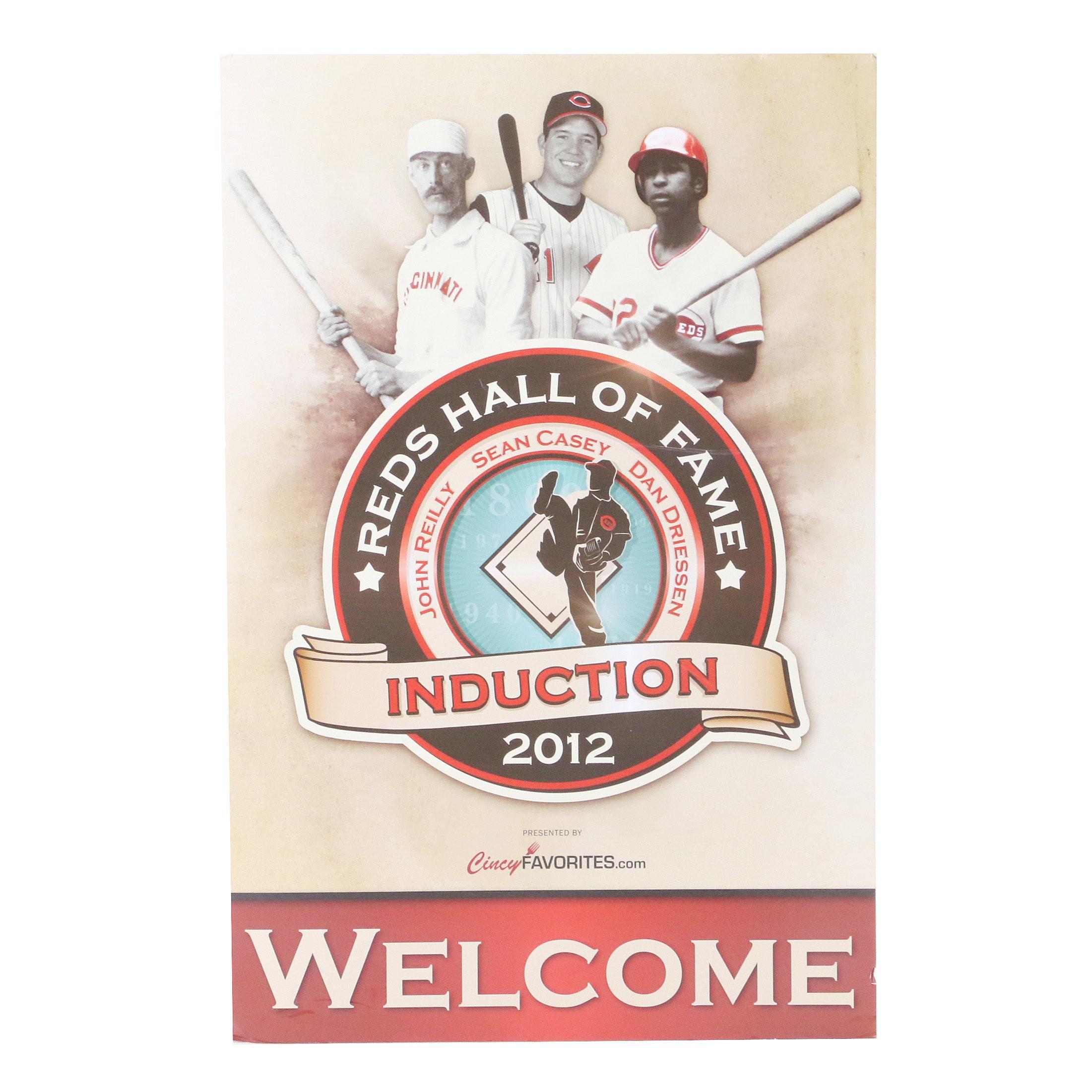 2012 Cincinnati Reds Hall of Fame Induction Display COA