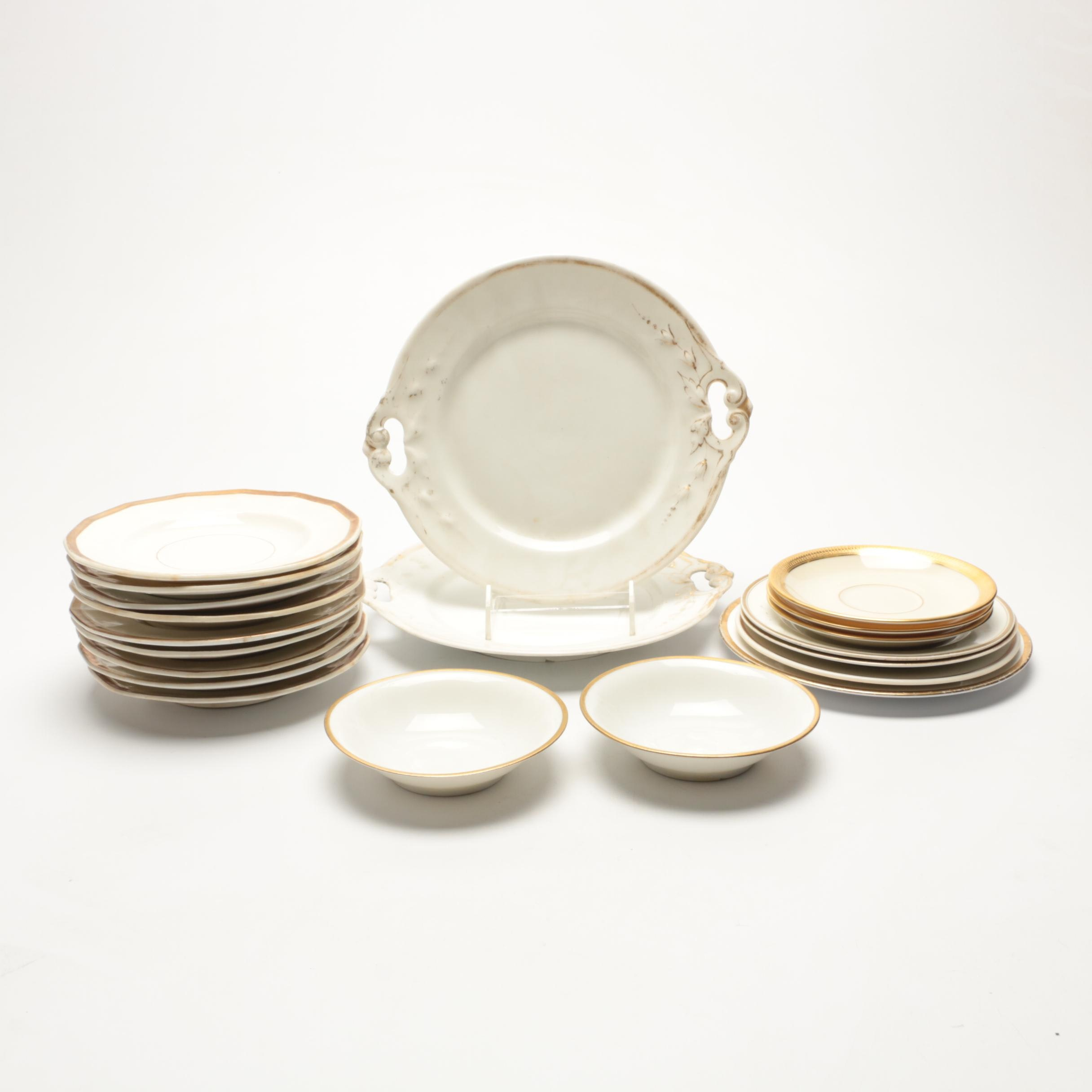Vintage Assorted China Featuring Lamberton and Royal Victoria