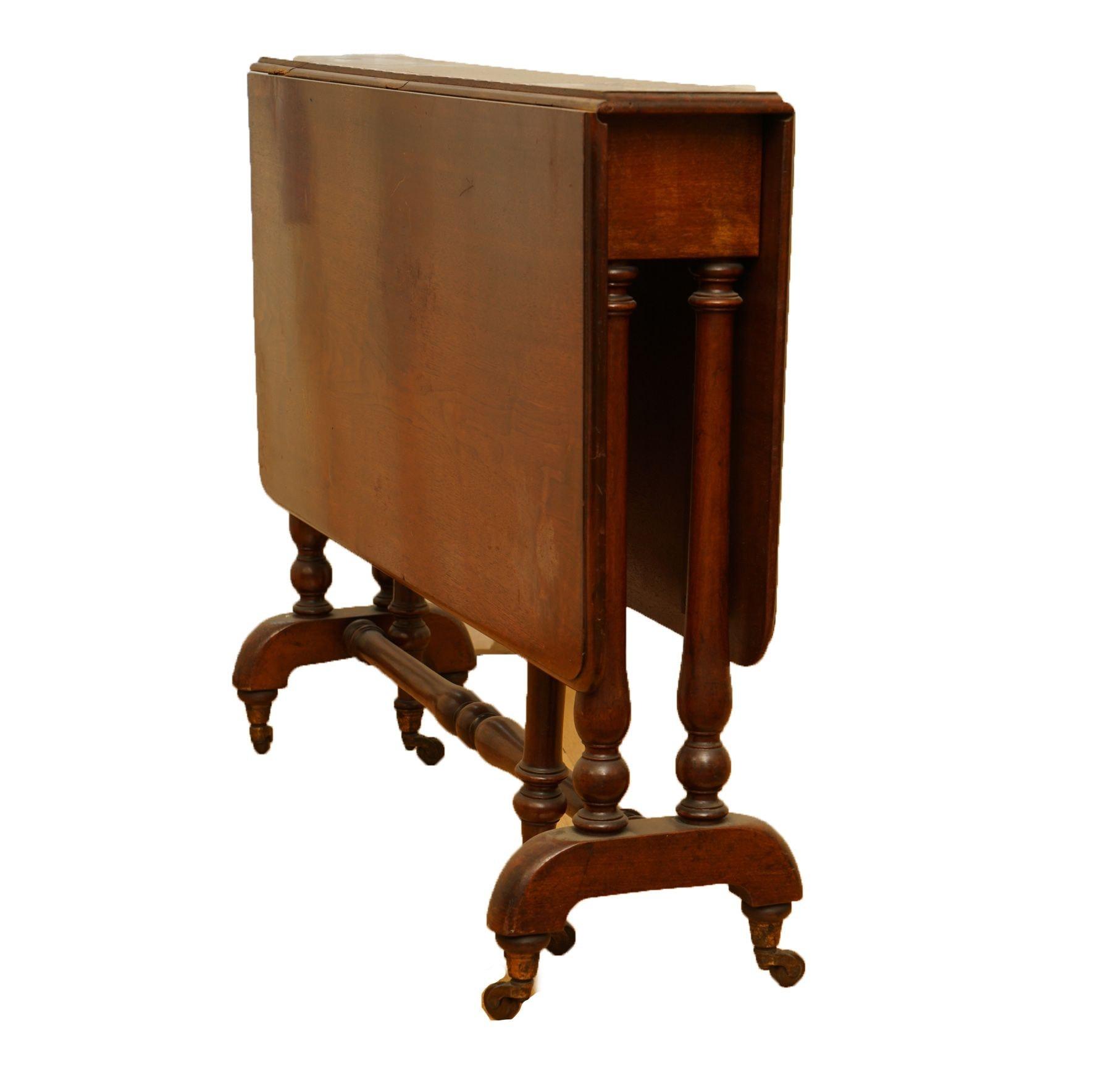 Vintage Mahogany Drop Leaf Gate Leg Table