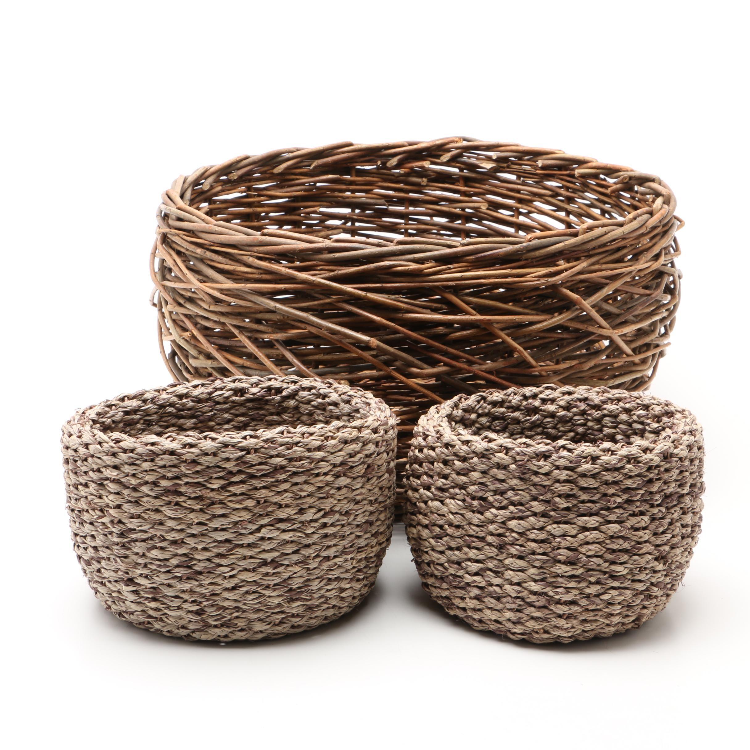 Three Decorative Baskets