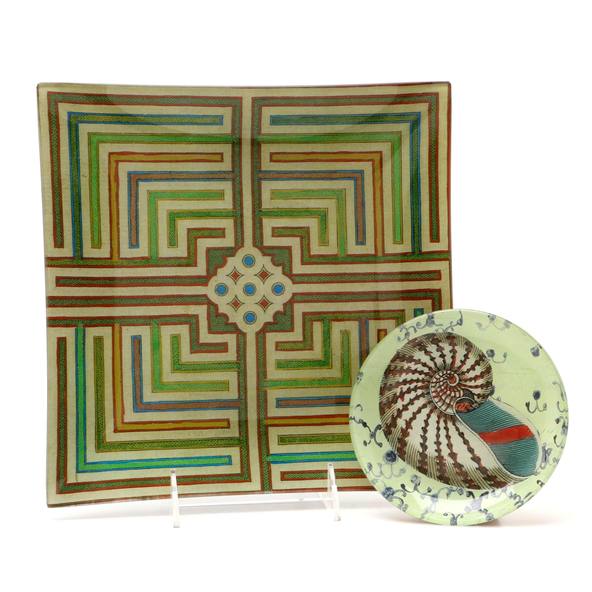 Signed John Derian Handmade Plates