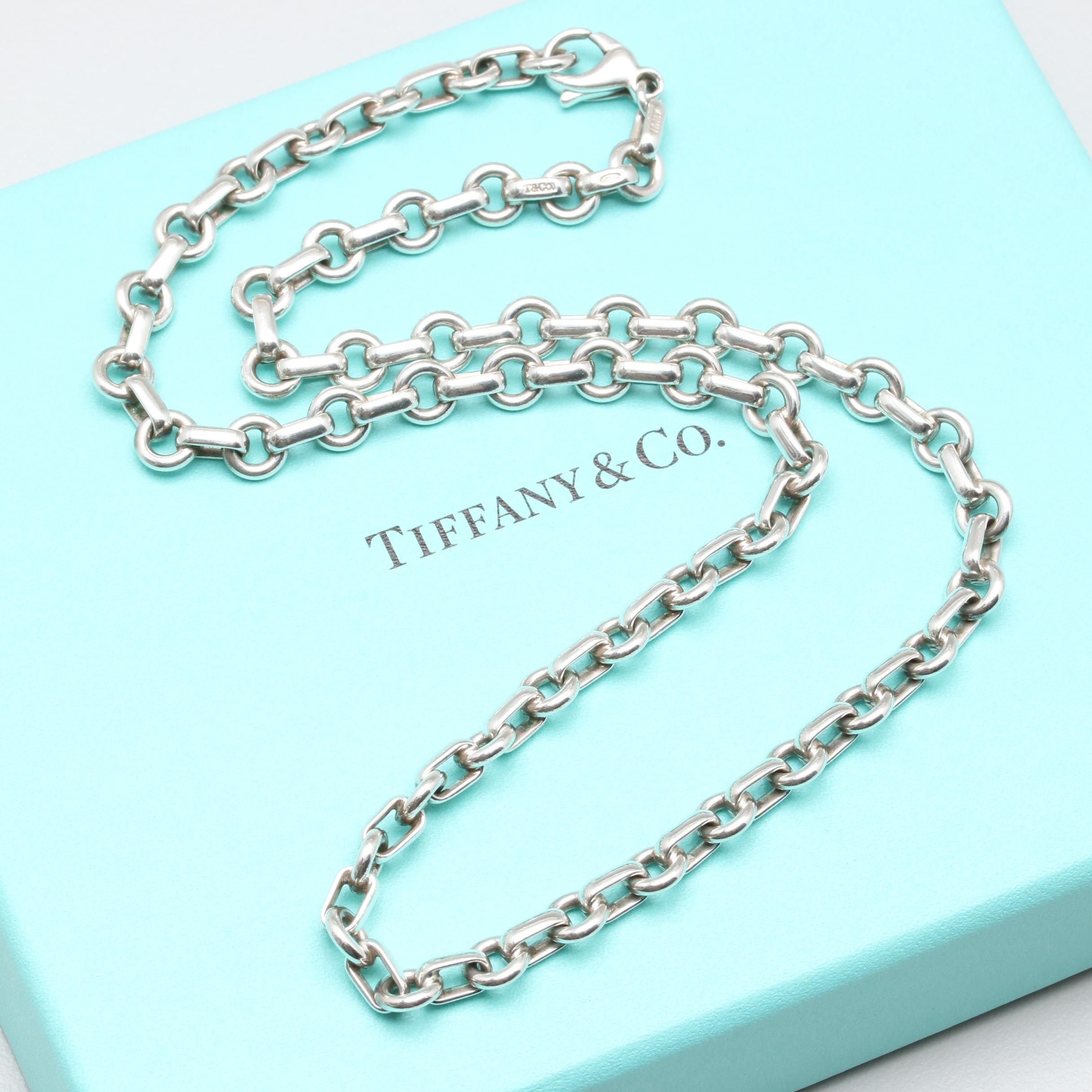 Tiffany & Co. Sterling Silver Custom Cable Chain Link Necklace