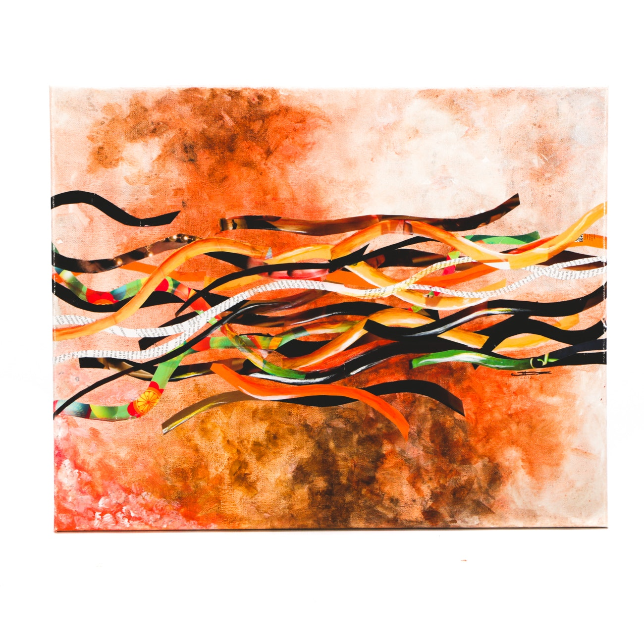 """Cossette Zeno Original 2012 Mixed Media on Canvas """"You Are Never Alone"""""""
