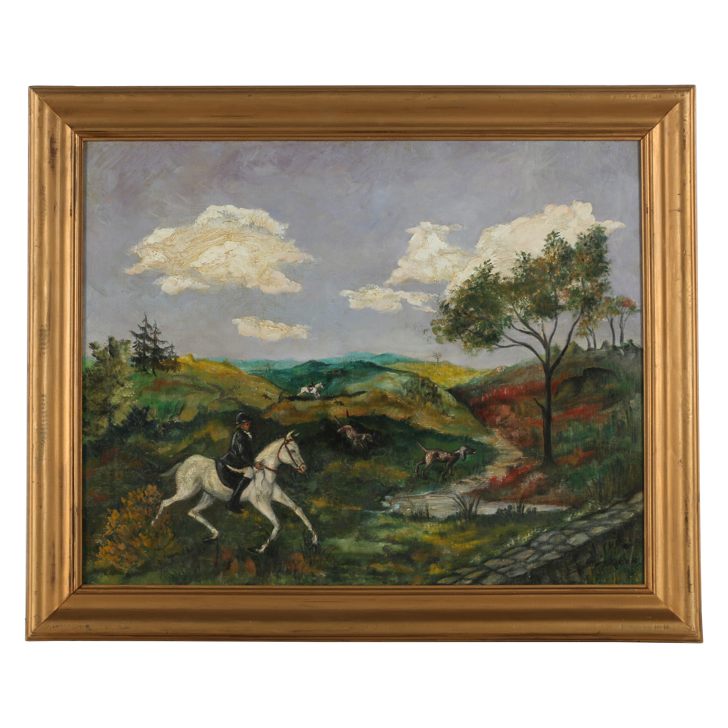 Late 20th Century Oil Painting