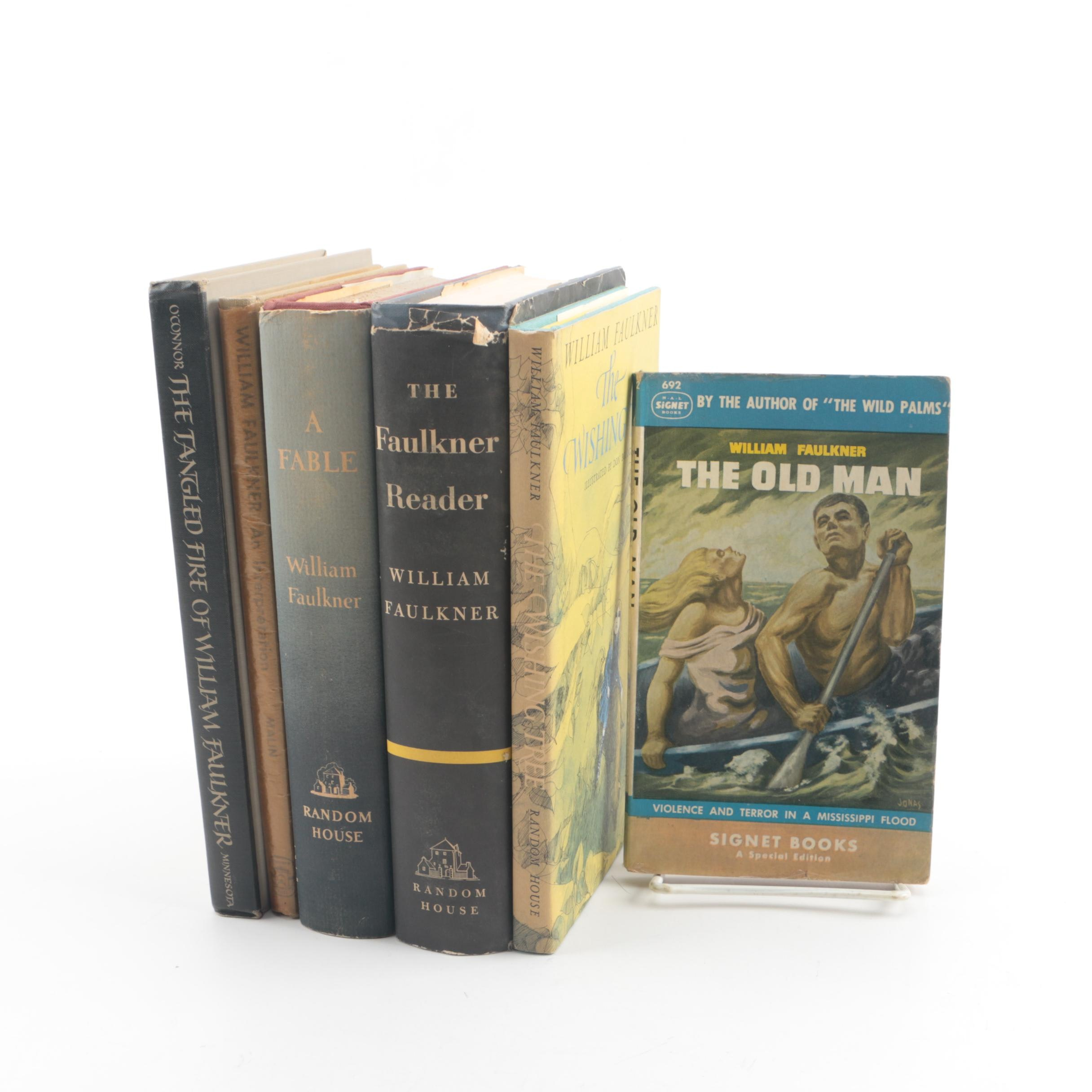 "William Faulkner Themed Books including First Printing ""A Fable"""
