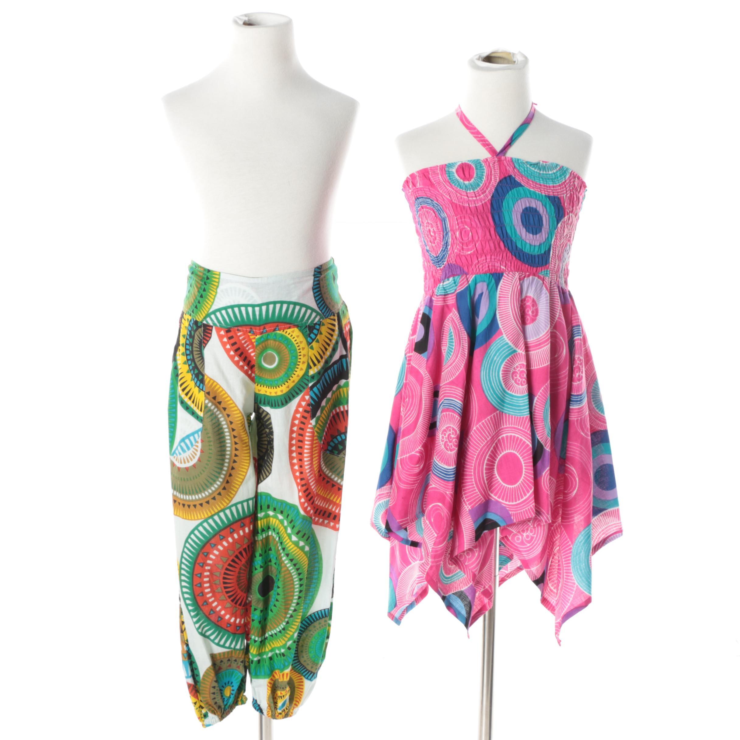 Girls' Aller Simplement Halter Dress and Harem Pants