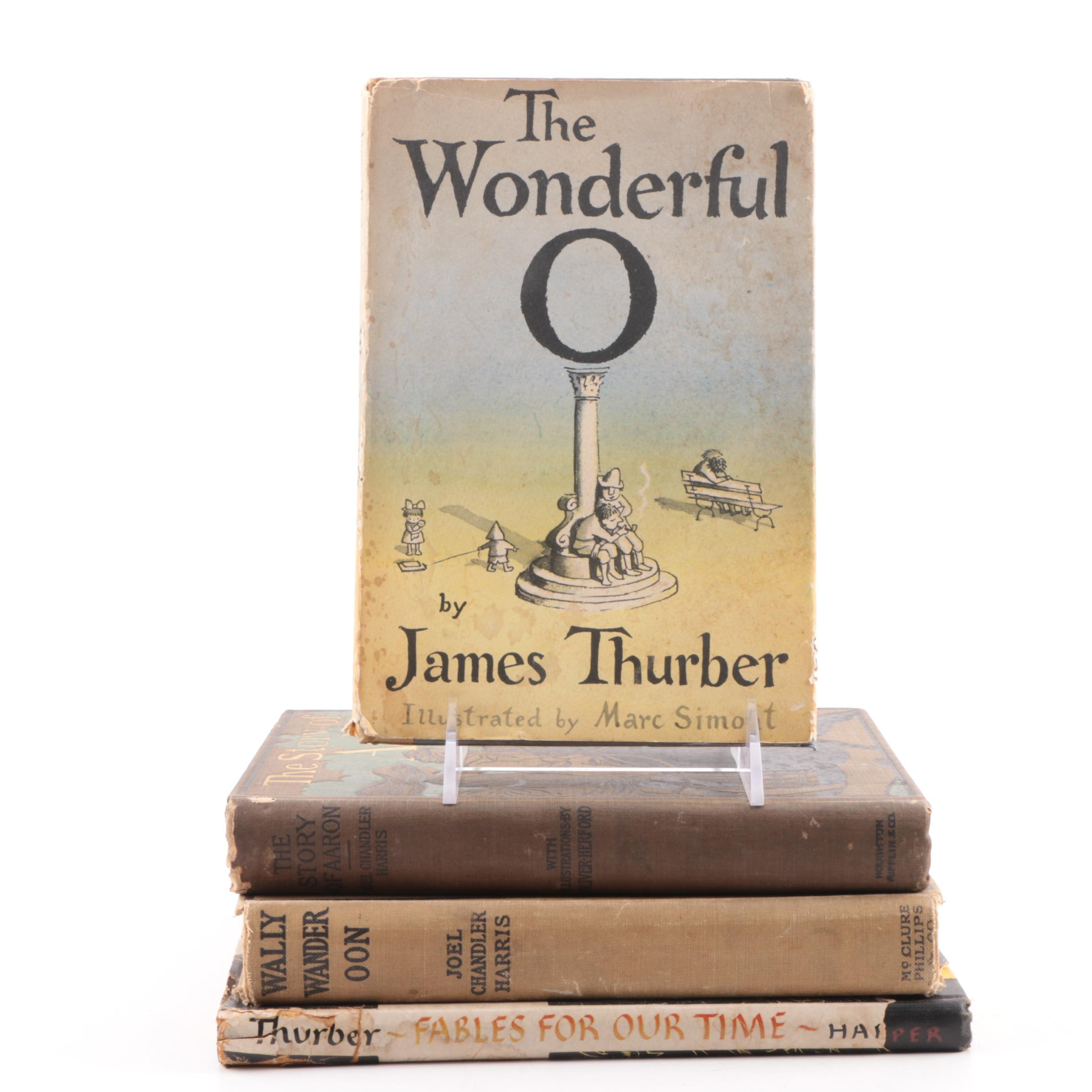 Vintage and Antique Books by Joel Chandler Harris and James Thurber