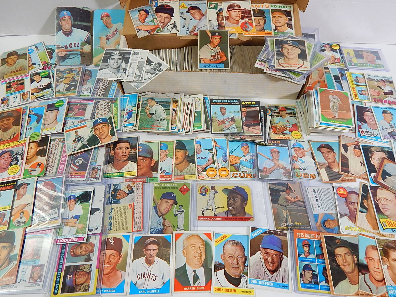Vintage Baseball Card Collection Mostly 1970s with Some 1950s and 1960s
