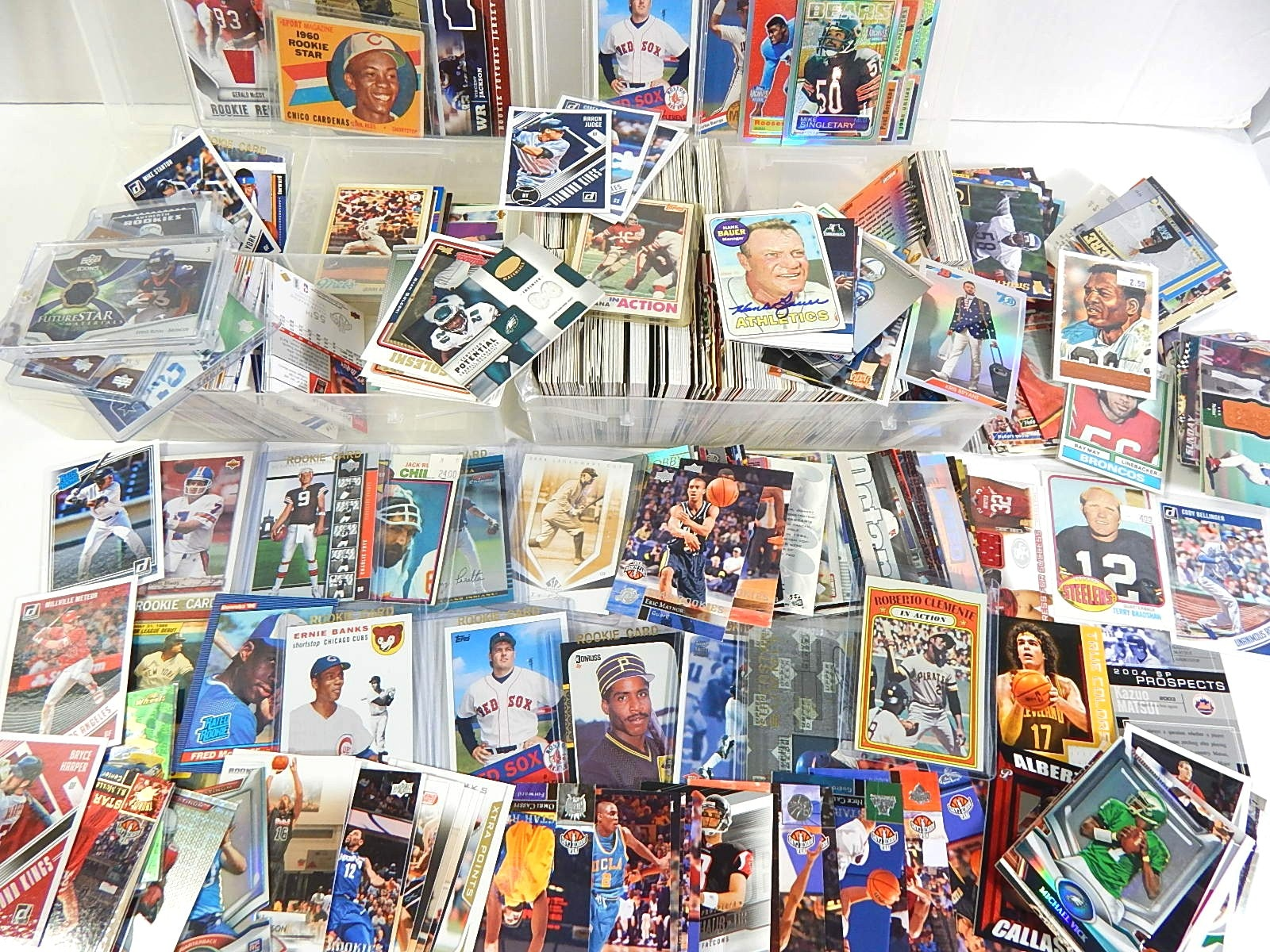 Collection of Baseball, Basketball, Football Cards - 1500 Card Count