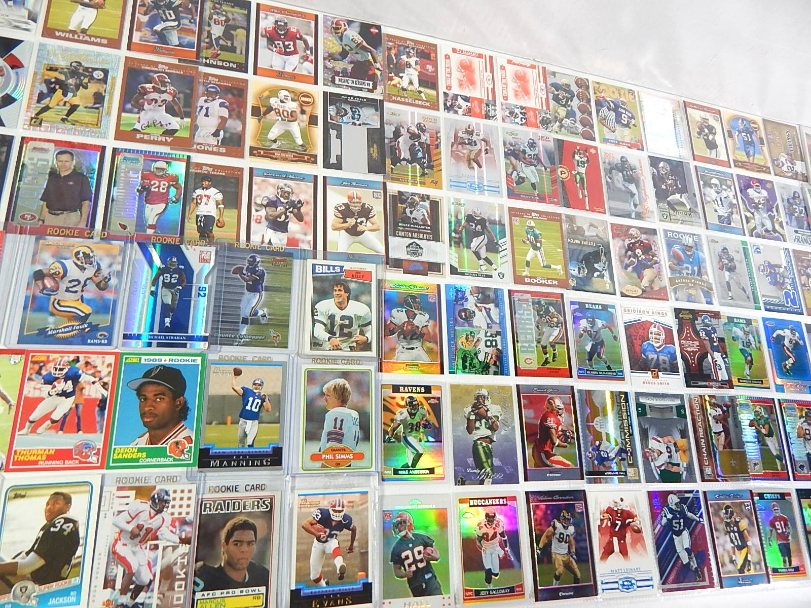 Football Star Rookies and Insert Card Collection