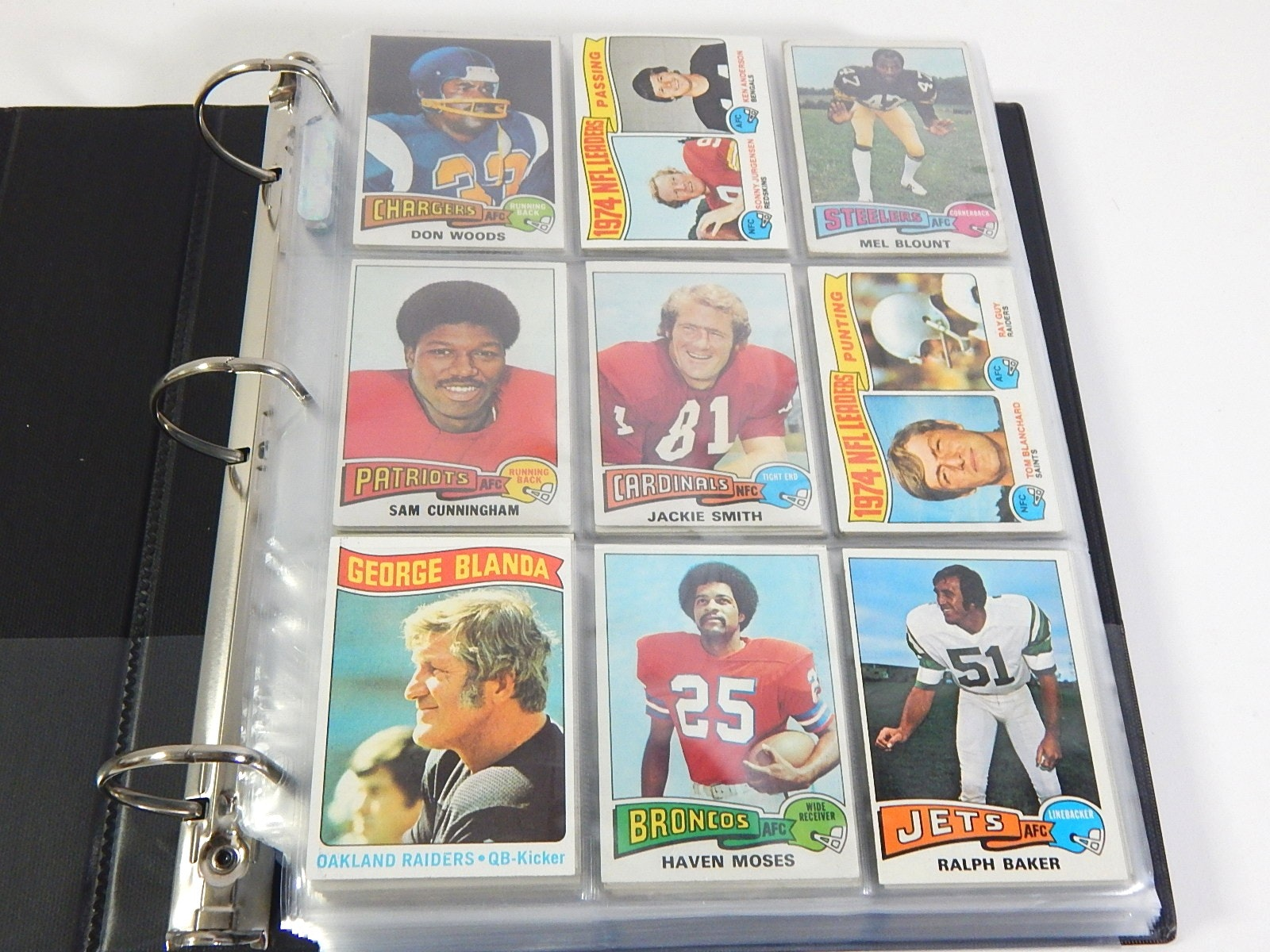 1975 Topps Football Partial Set in Album - Around 450 Card Count