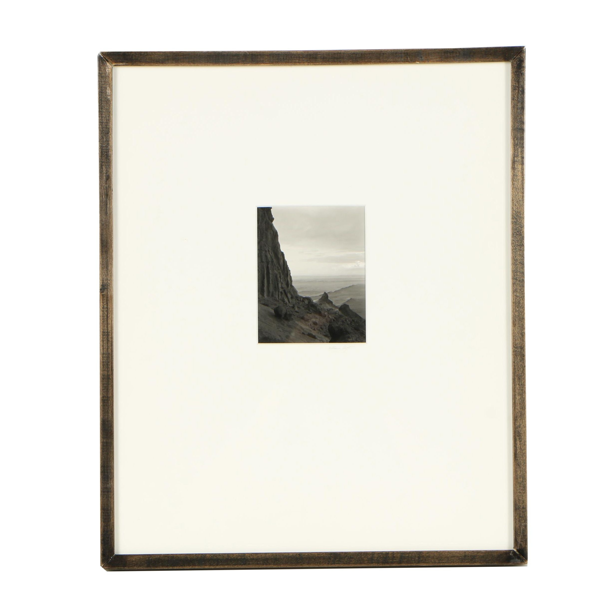 """William Clift Gelatin-Silver Photograph from the Series """"View of Shiprock"""""""