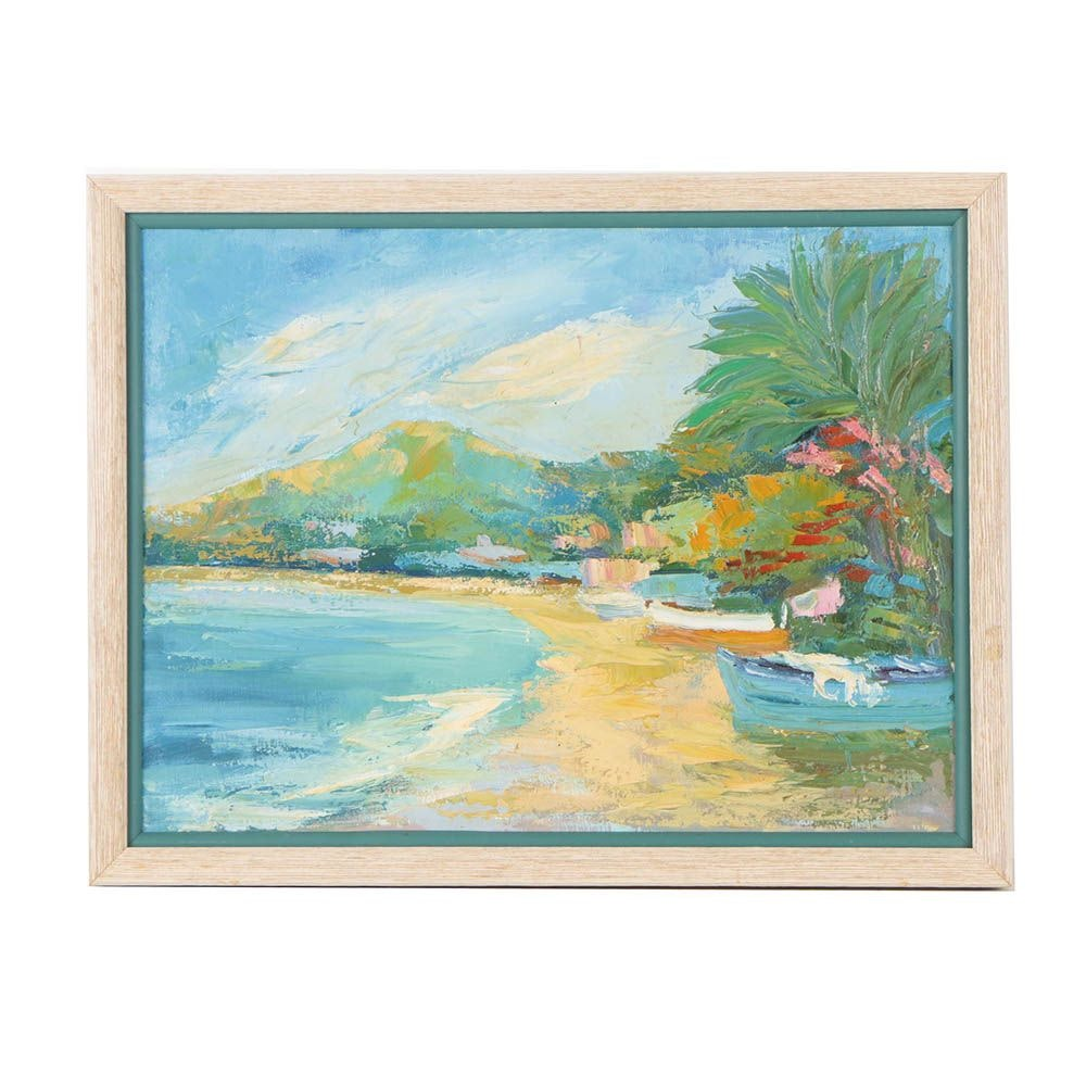 20th Century Acrylic Landscape Painting