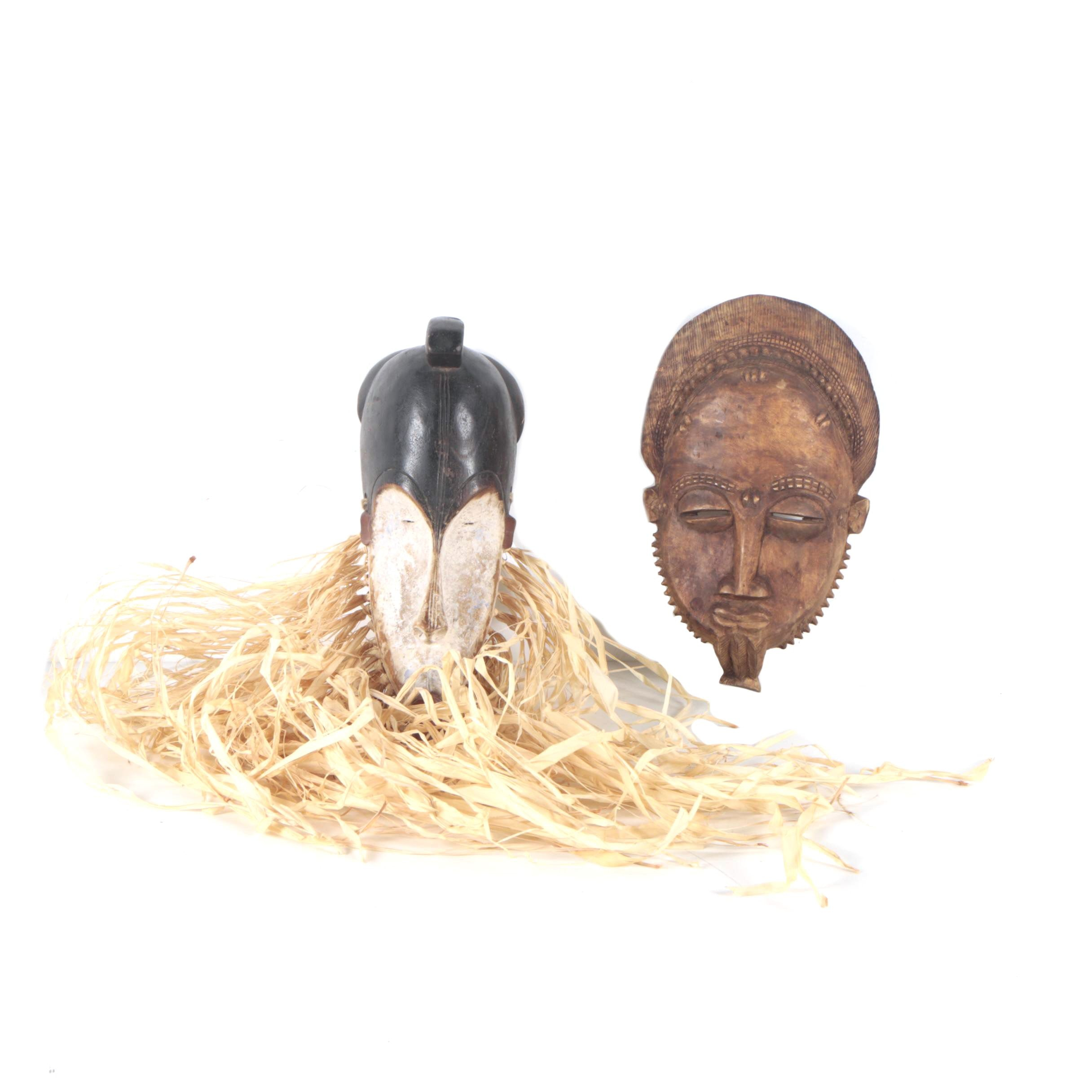 Two African-inspired Wooden Masks