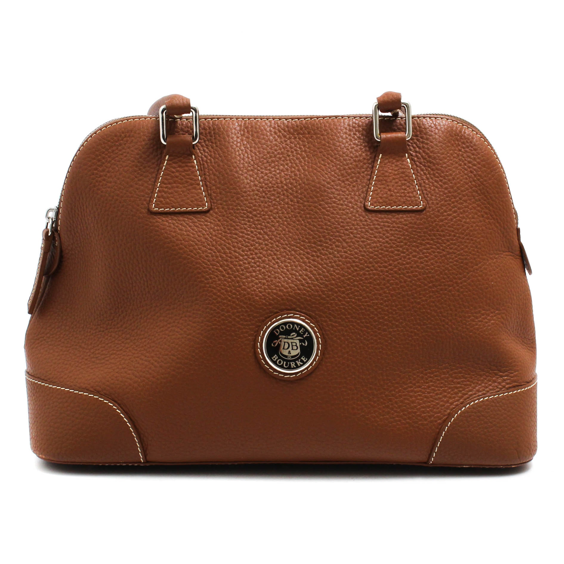 Dooney & Bourke Cognac Pebbled Leather Handbag