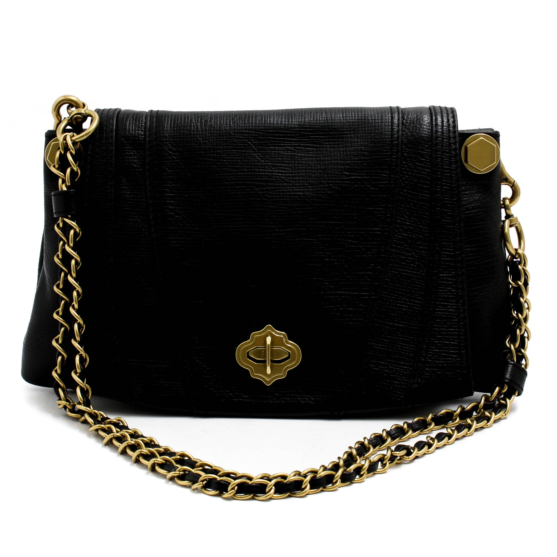 Oryany Black Leather Handbag