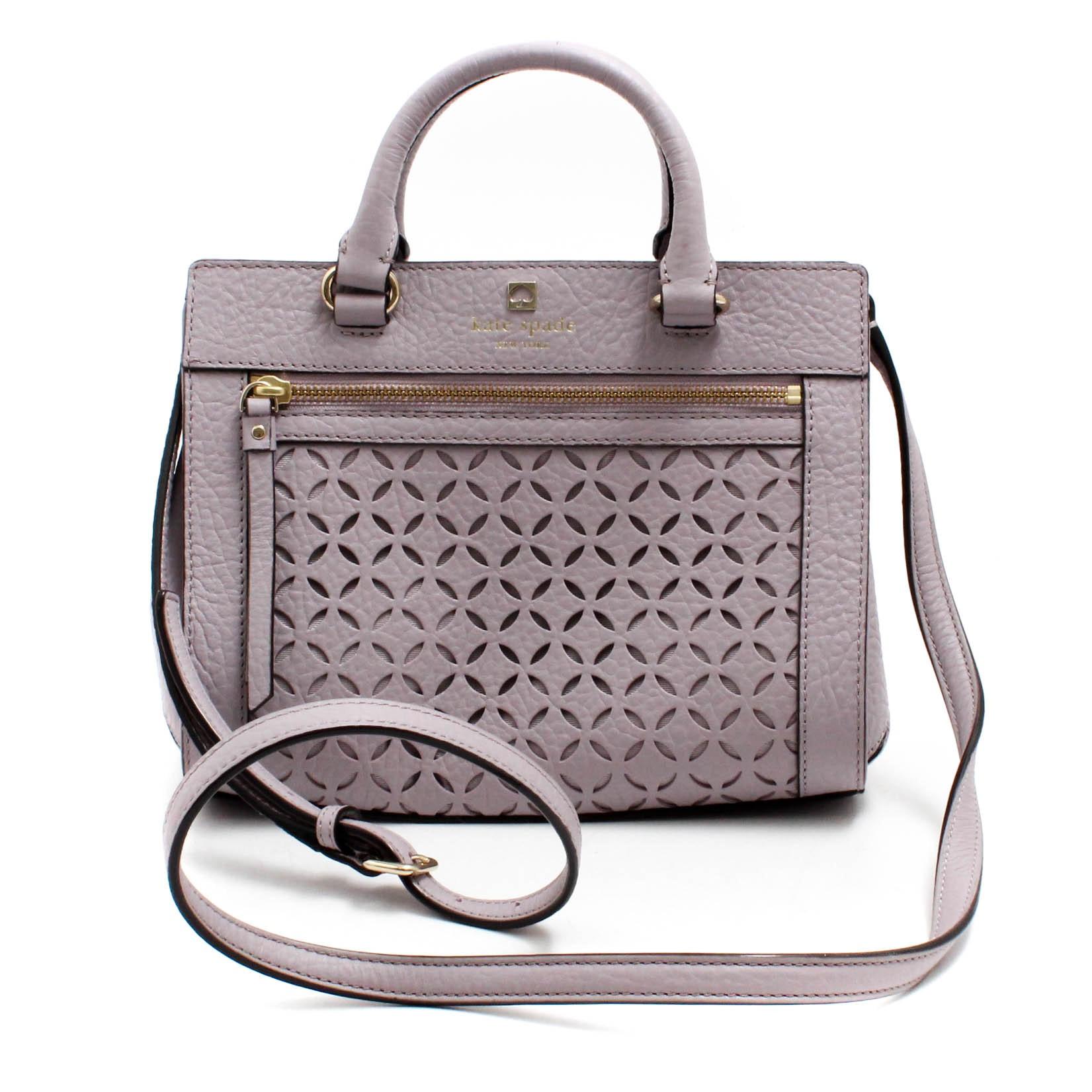 Kate Spade New York Pebbled Laser Cut-Out Leather Shoulder Bag