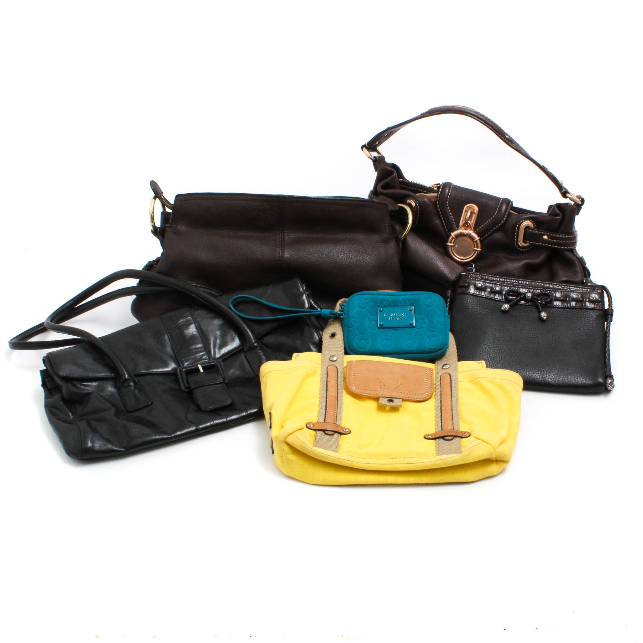 Assorted Handbags Featuring Banana Republic and Michael Kors Wristlet
