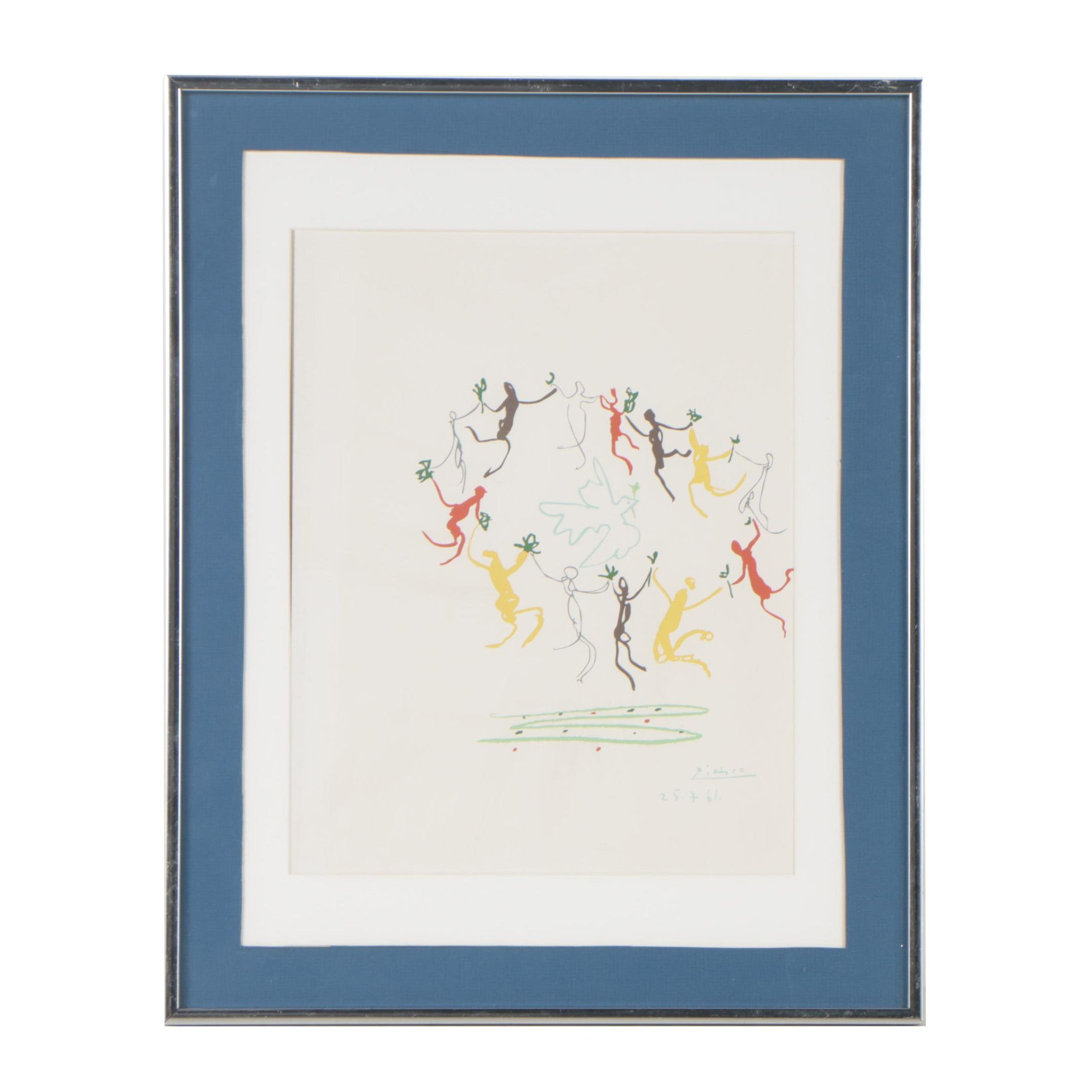 """After Pablo Picasso Serigraph """"Dance of Youth"""""""