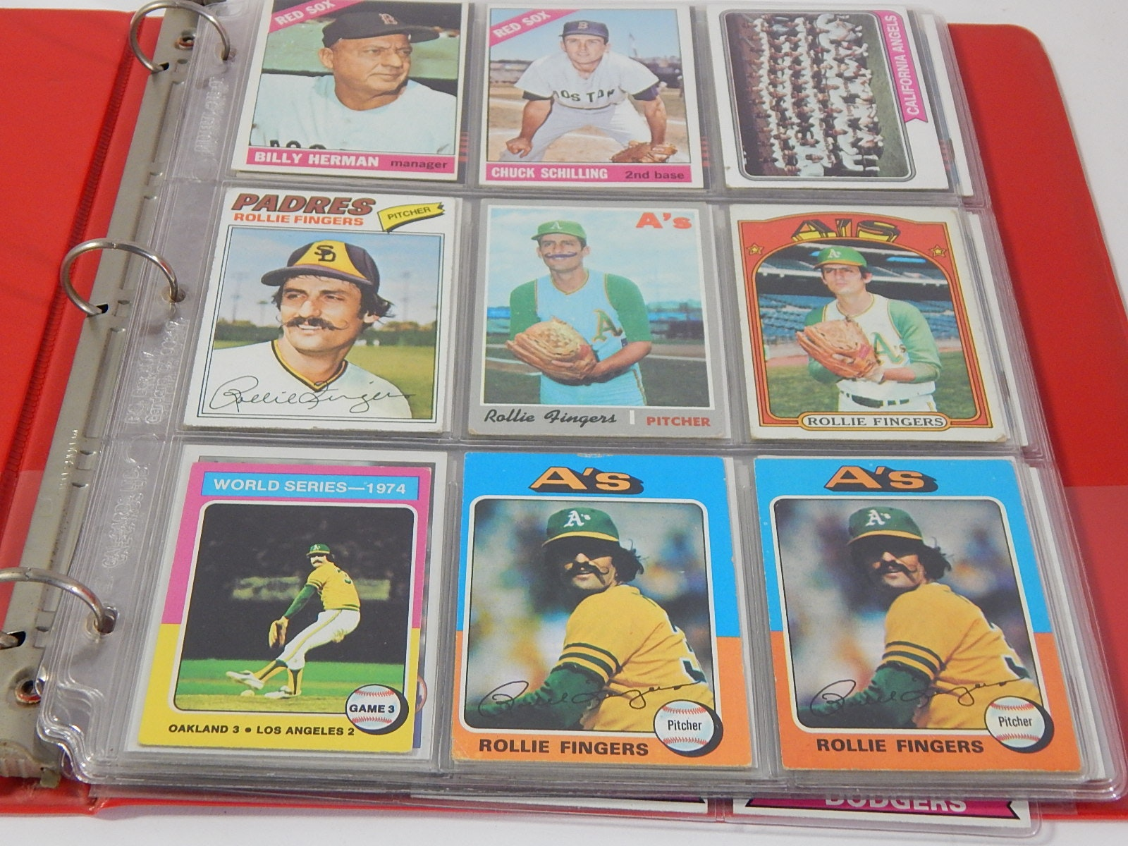 Vintage Star Baseball Cards in Album - 1960s thru 1980s - 96 Card Count