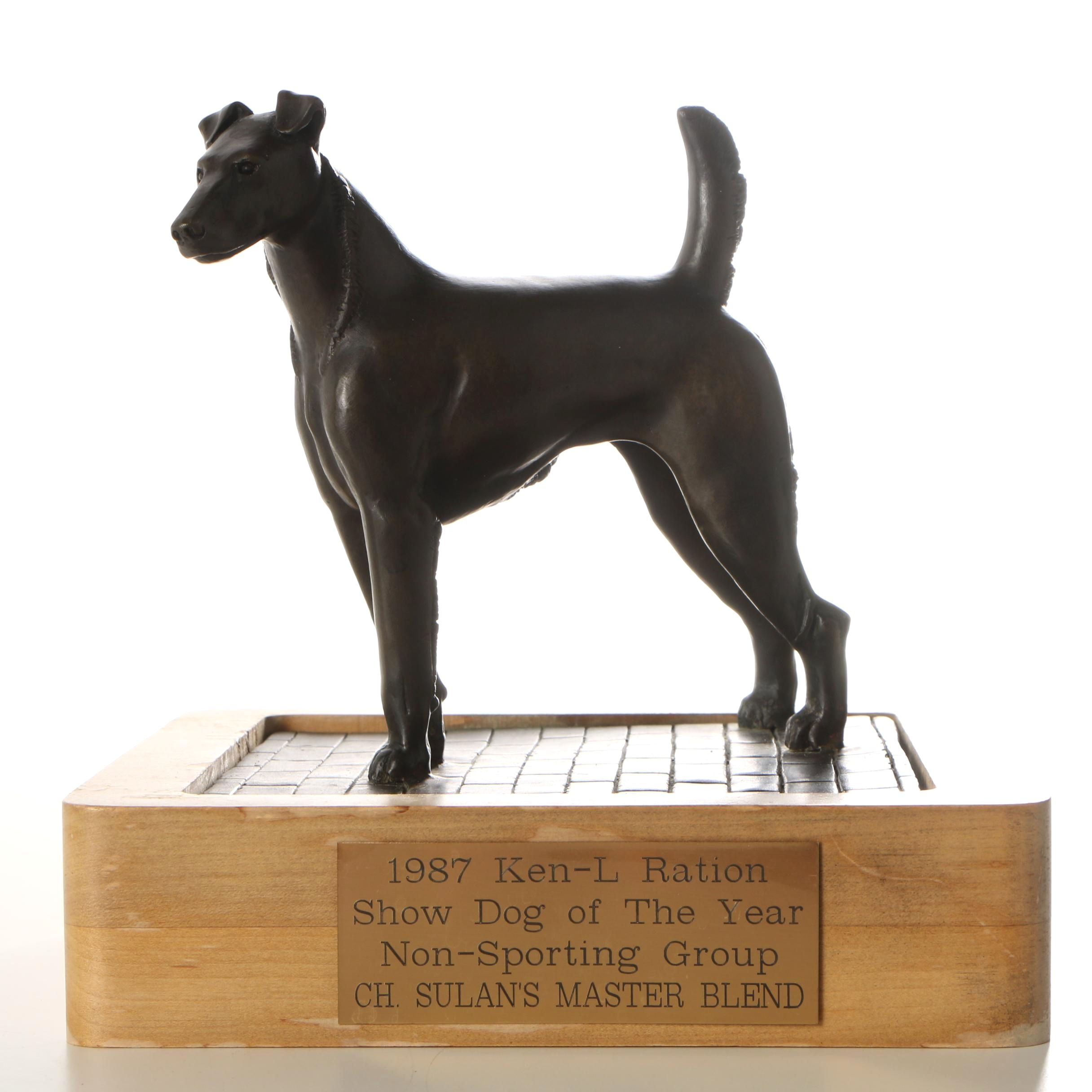Ric Chashoudian Bronze Trophy for the 1987 Ken-L Ration Dog Show