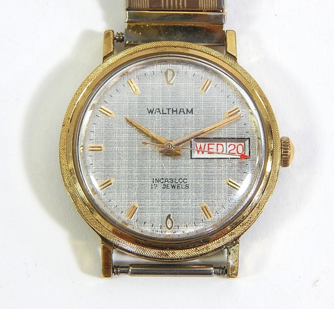 Waltham Incabloc 17 Jewel Gold-Tone Swiss Wristwatch - Repair