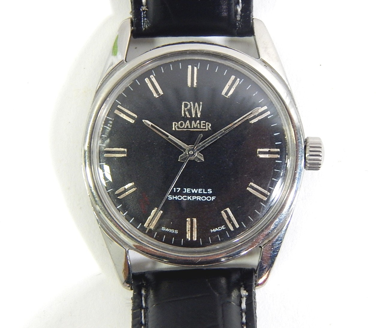 RW Roamer Vidar 17 Jewel Shockproof Swiss Made Silver-Tone Wristwatch