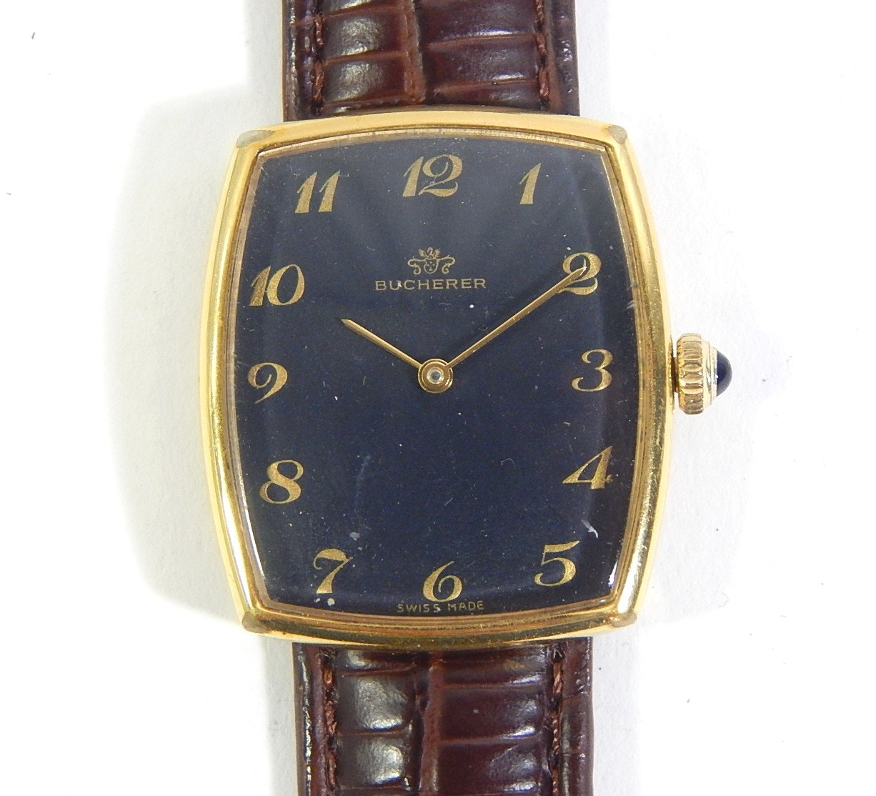 Vintage Bucherer Gold-Tone Wristwatch