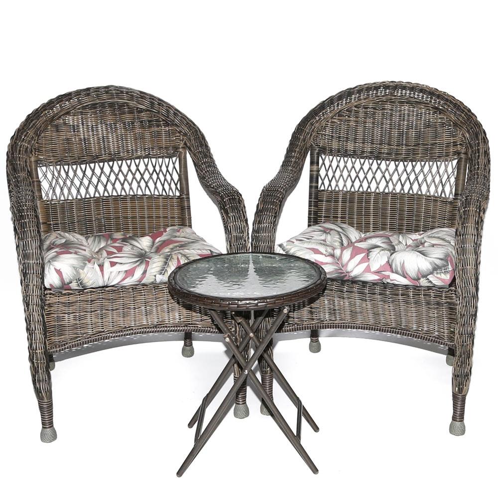 Woven Vinyl Patio Chairs