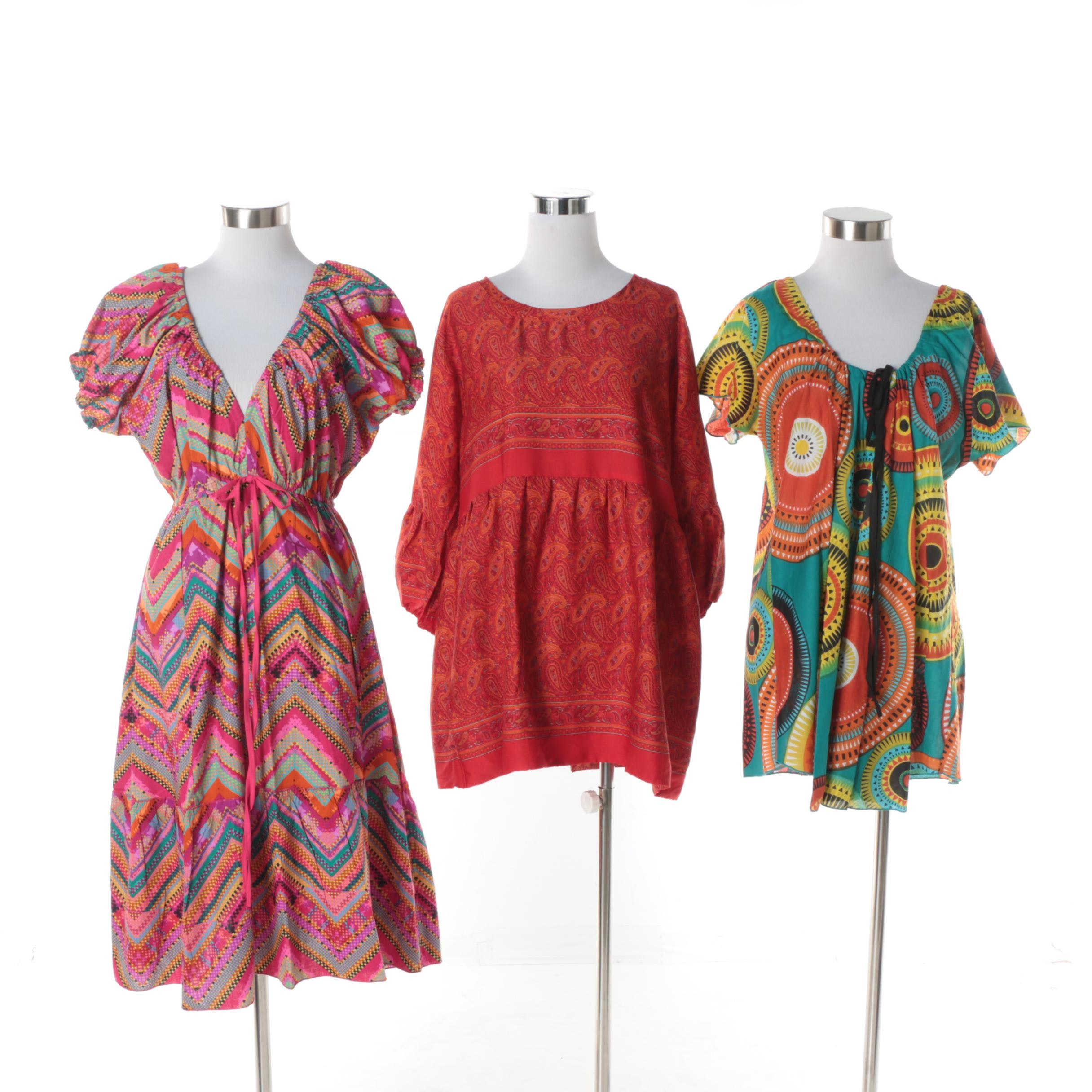 Aller Simplement Paisley and Mandala Pattern Tunics and Chevron Pattern Dress