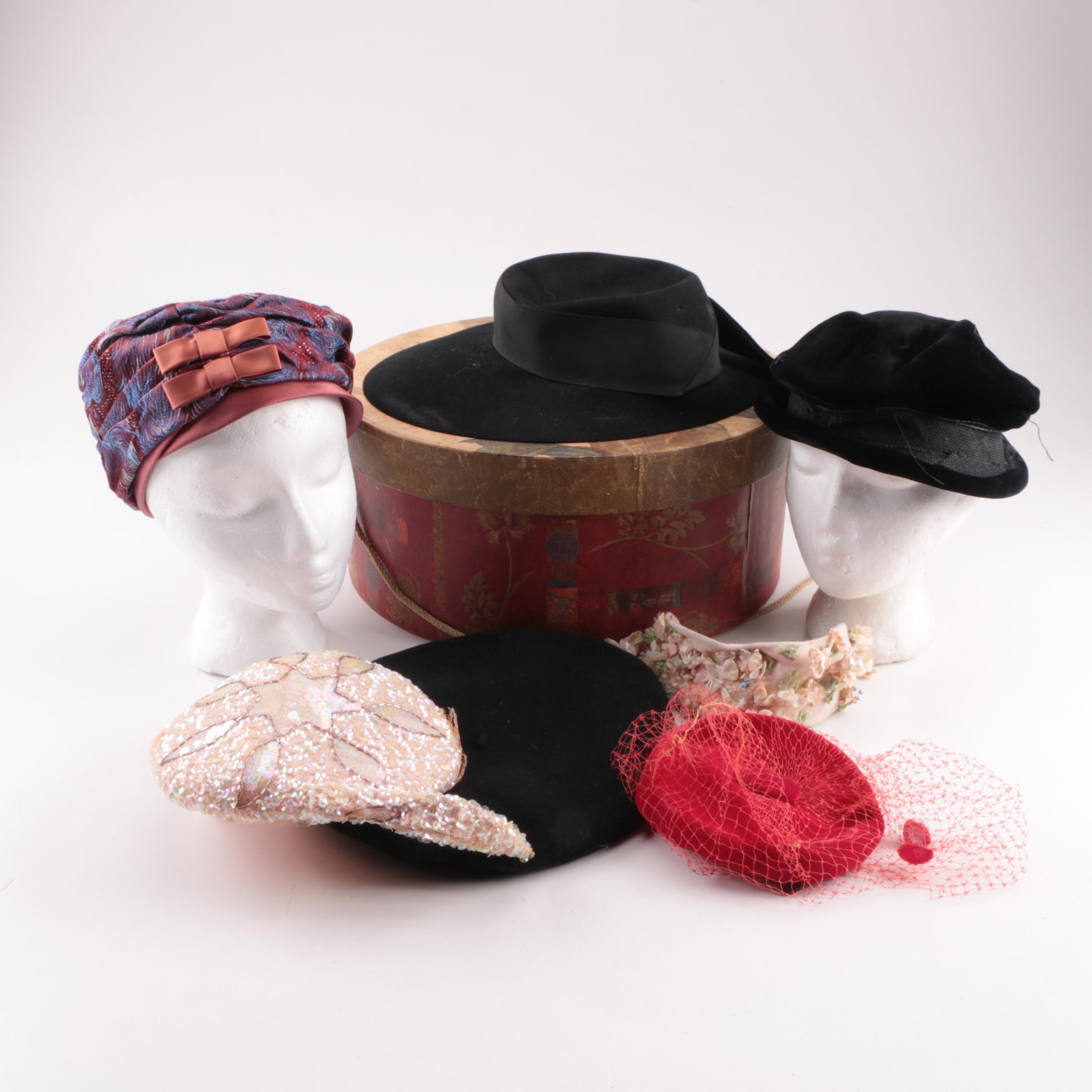 Women's Vintage Hats and Fascinators Including Dobb's