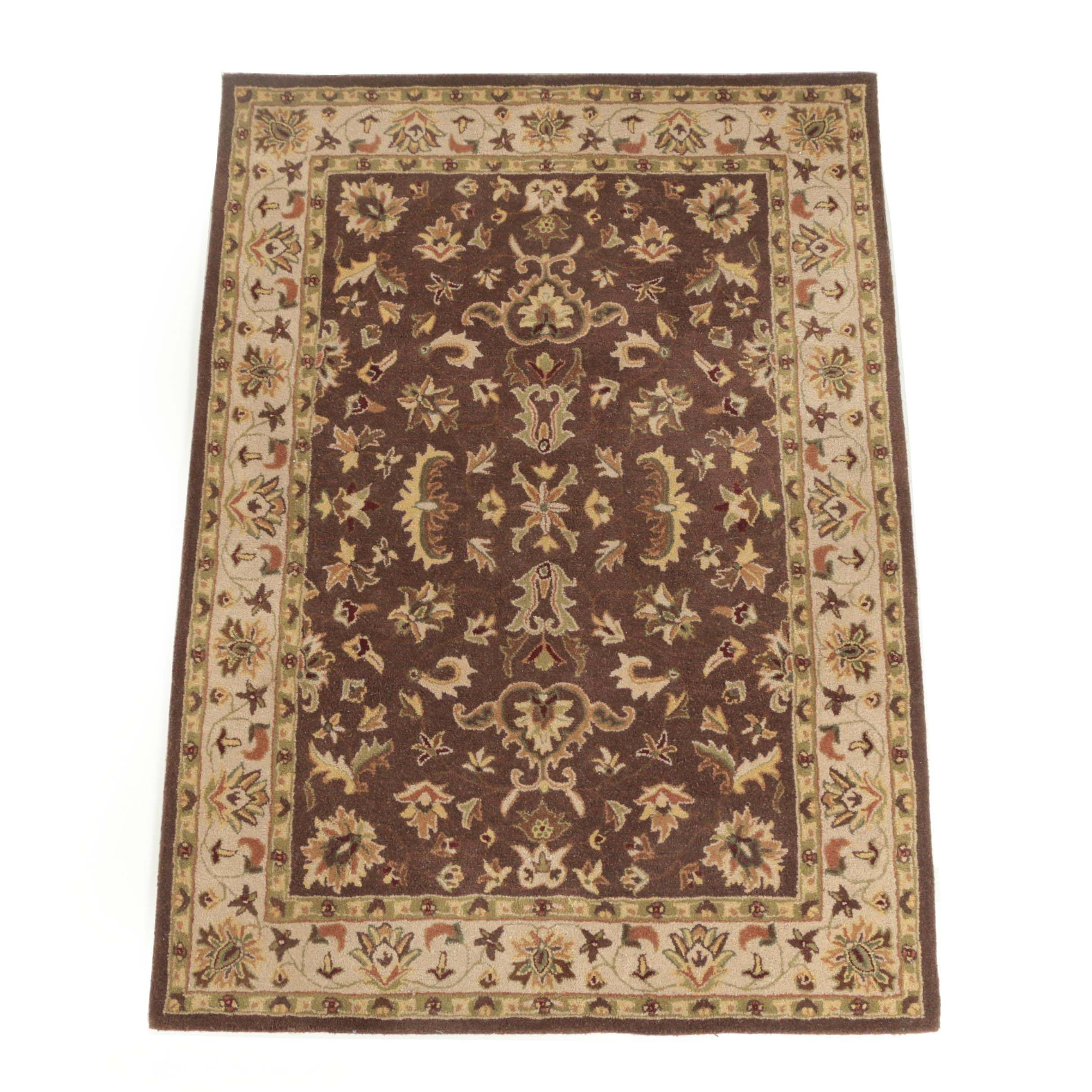 "Hand-Tufted Indian ""Agra"" Wool Area Rug by Heritage Unlimited"