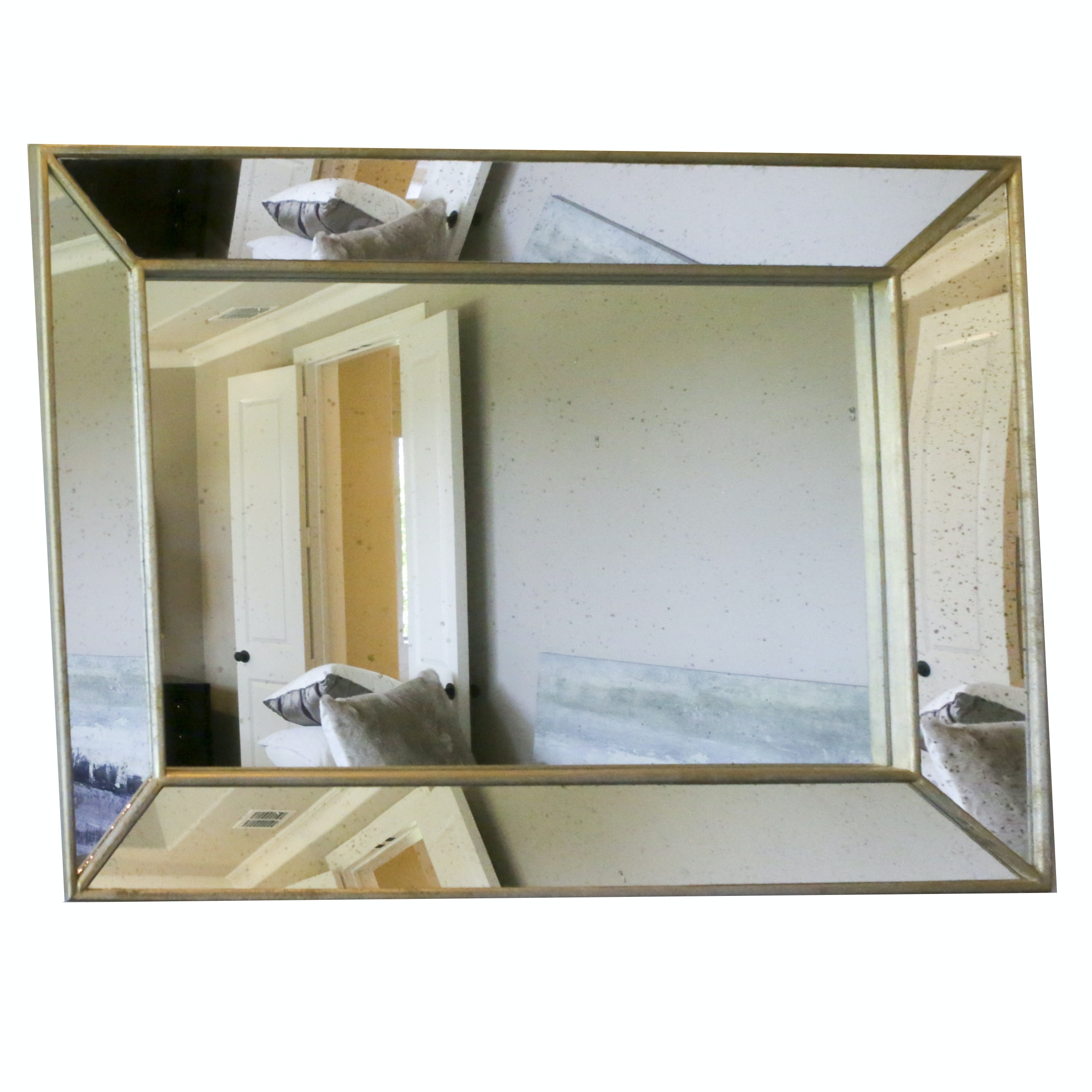 Wall Mirror with Angled Edge Mirror Frame