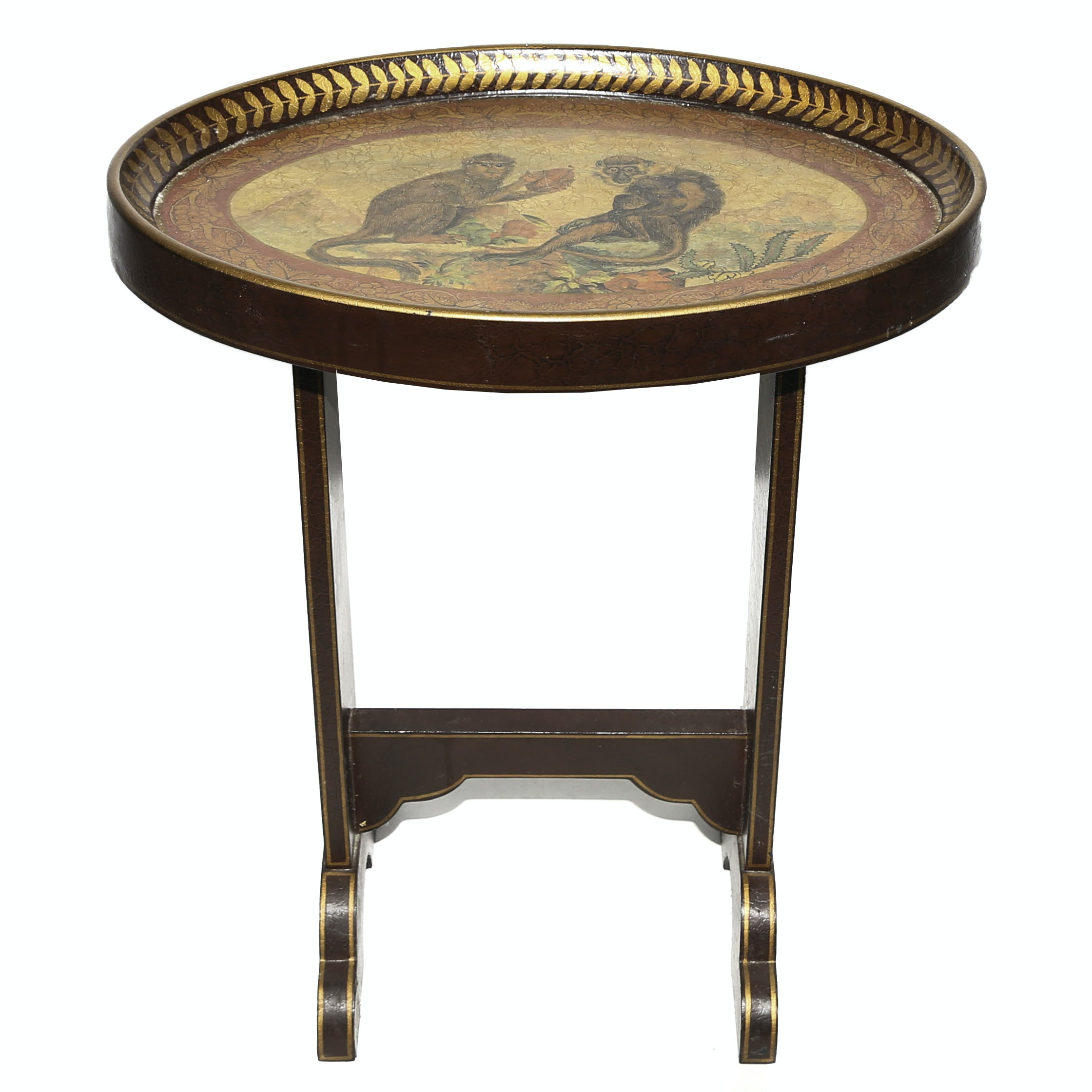 Monkey Painted Accent Table