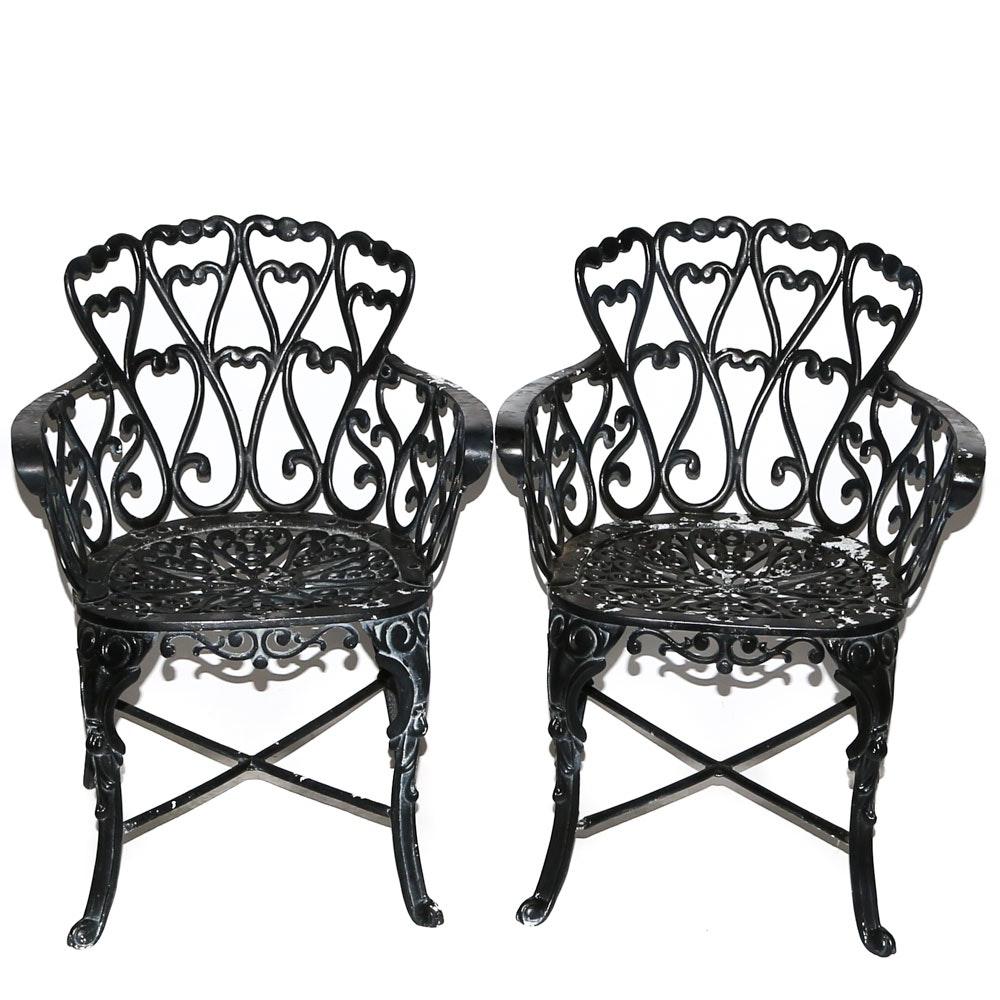 Cast Metal Garden Chairs