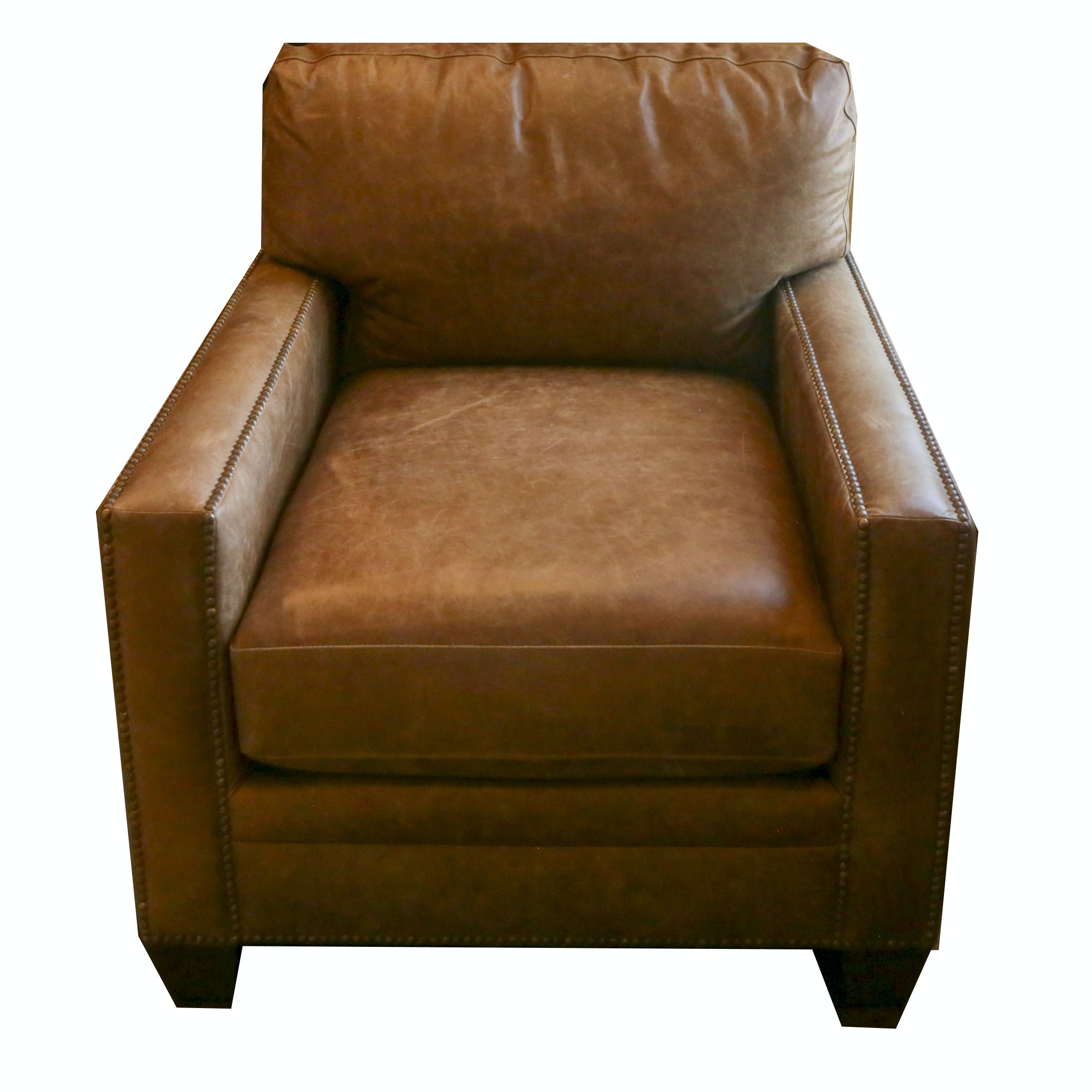 Leather Club Chair by Bassett Furniture