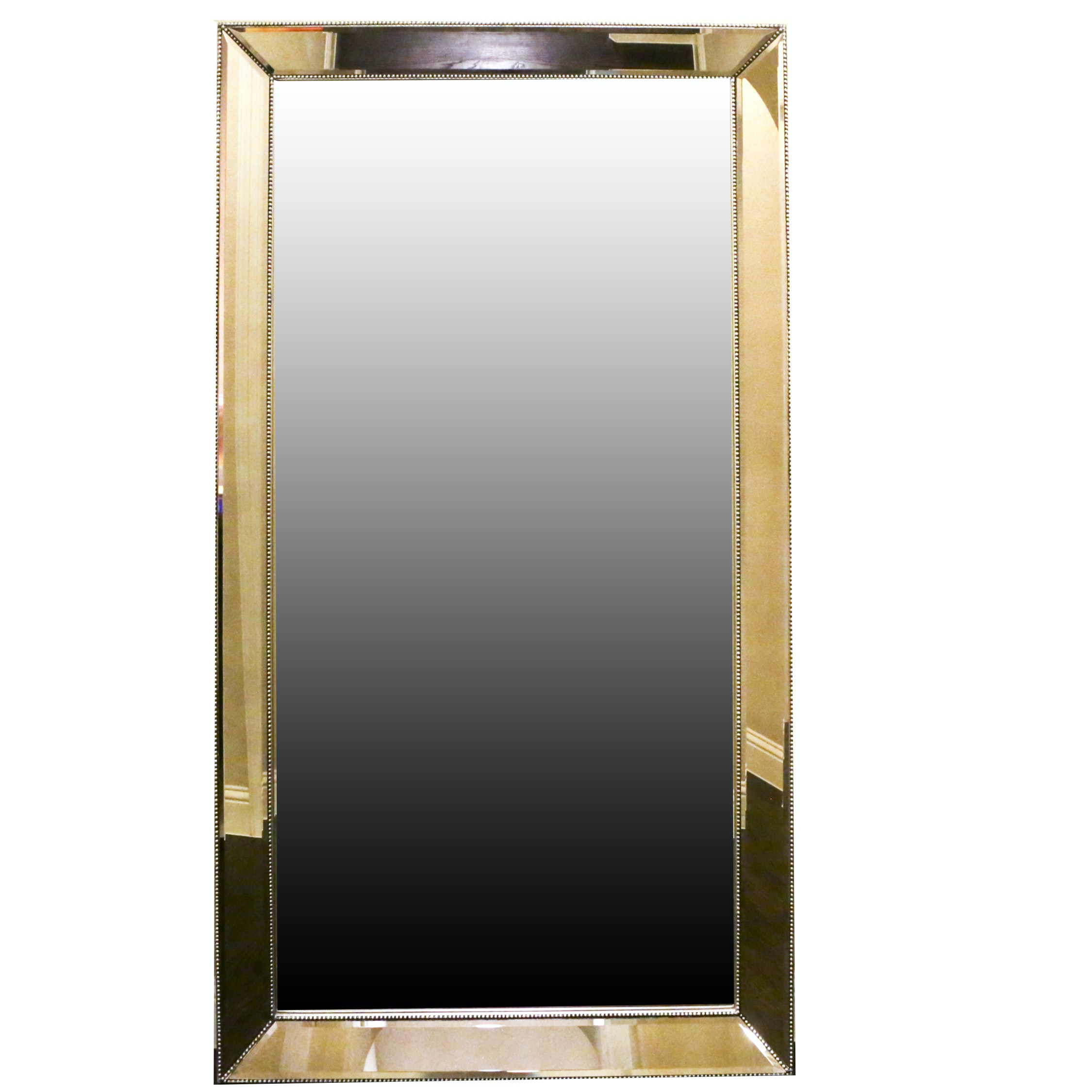 Floor Mirror with Angled Edge Mirror Frame