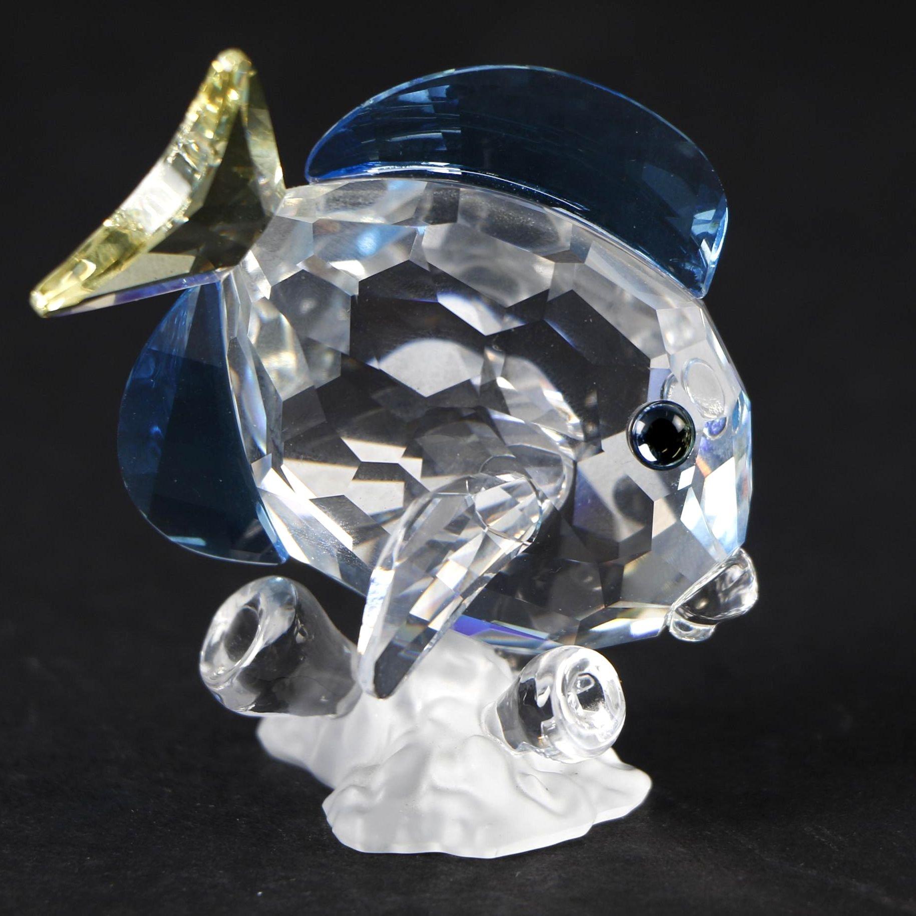 "Swarovski 2007 ""Blue Tang Fish"" Crystal Figurine"