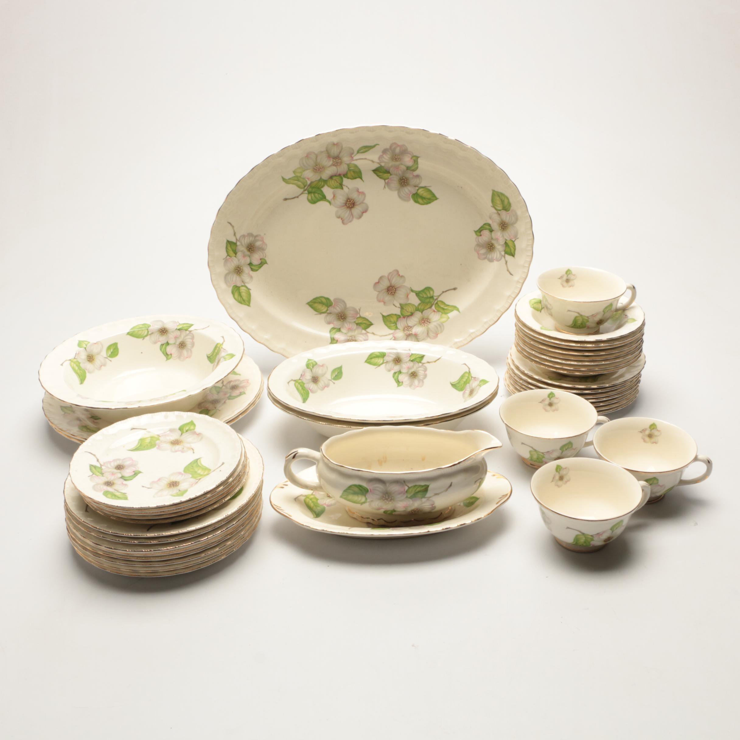 """Pope Gosser """"Dogwood"""" Porcelain Tableware"""