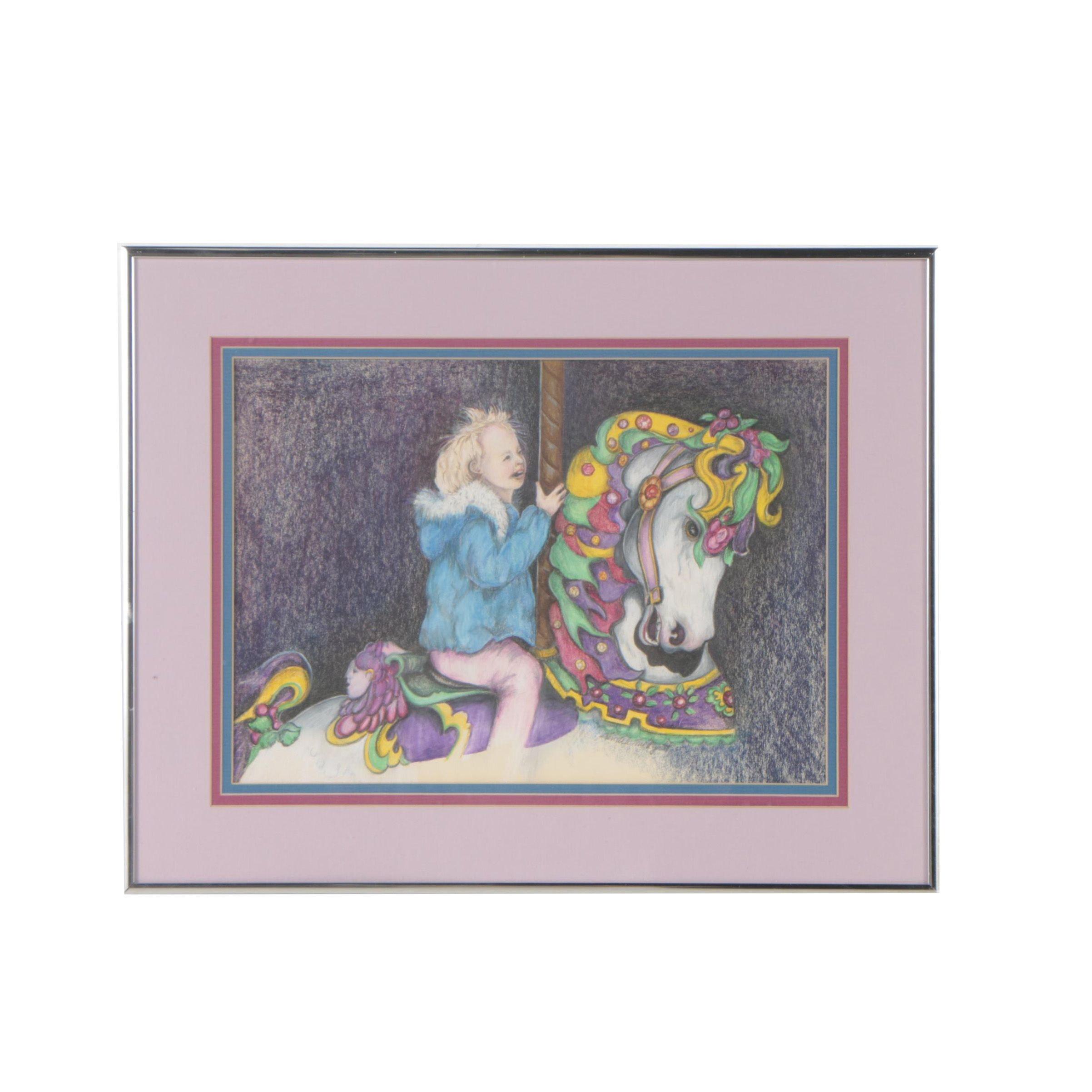 "Sandra Midgett Drawing ""Ride the Painted Pony"""