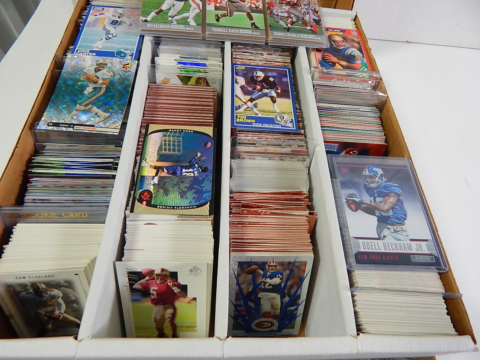 3200 Count Box of Football Cards with Stars, HOF - 2500 Card Count