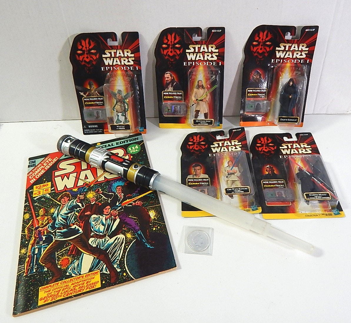 Star Wars Memorabilia with Silver Coin and 1978 Oversized Marvel Comic