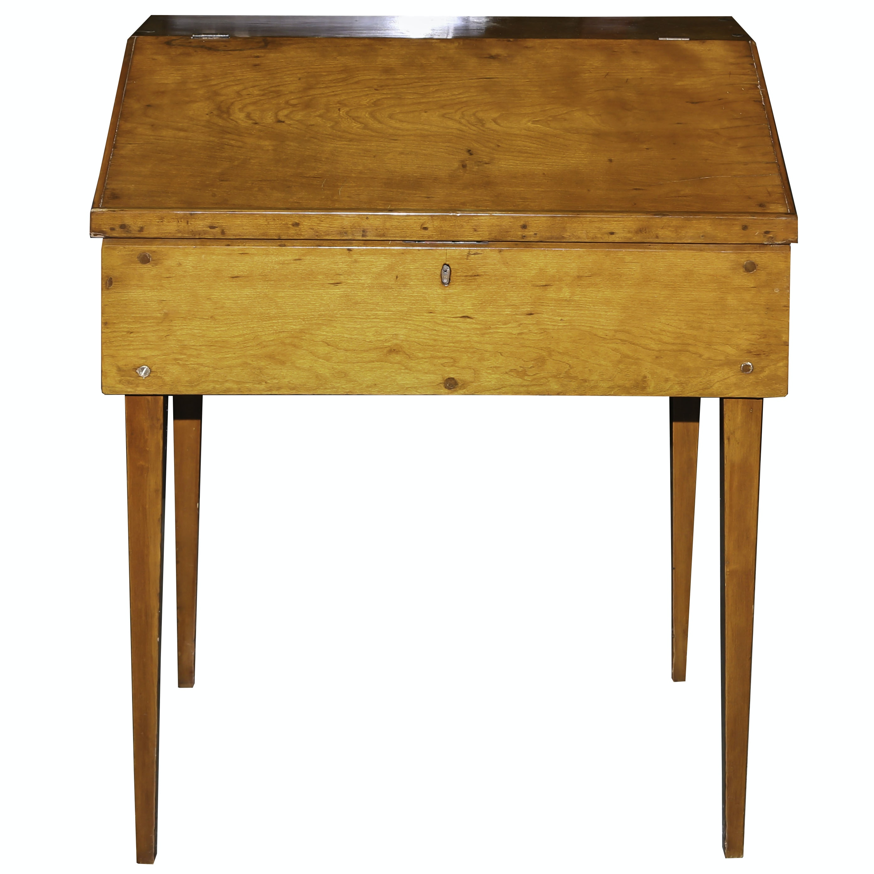 Vintage Pine Slant Top Book Table