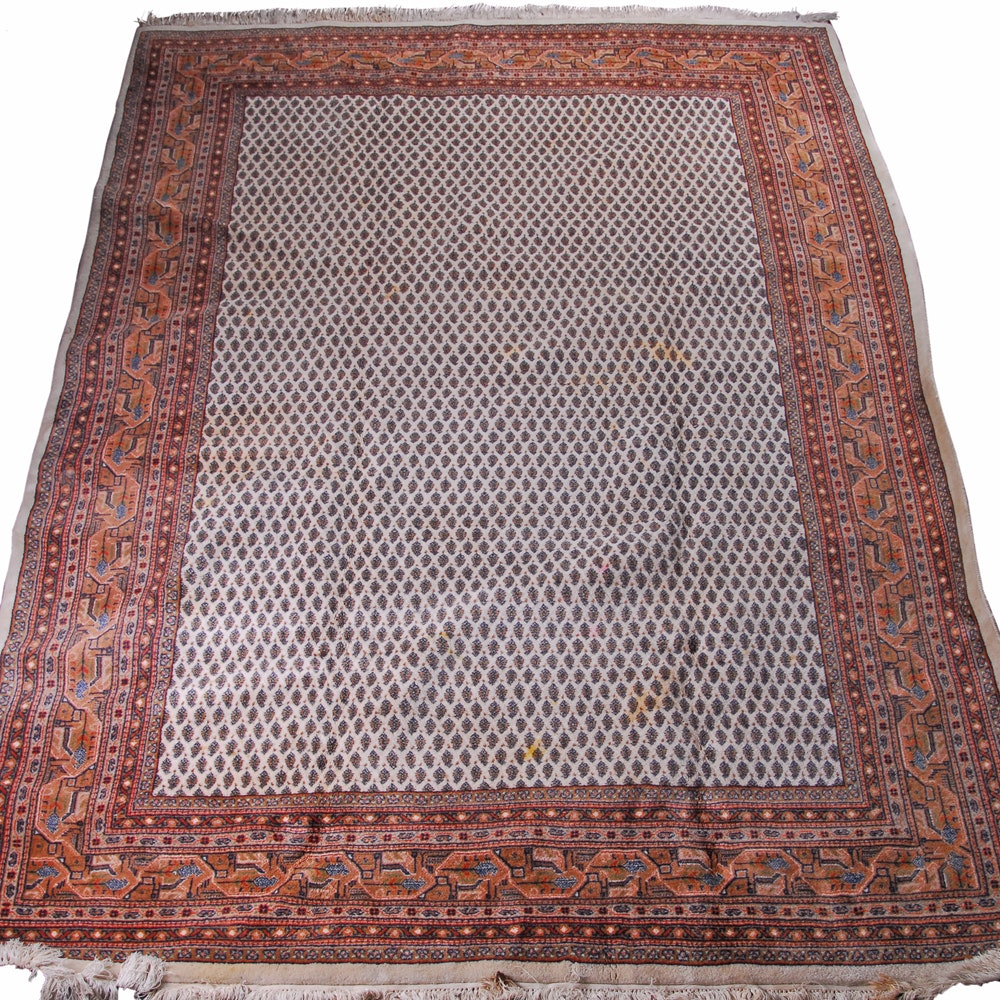 Hand-Knotted Indo-Persian Olyai Mir Serabend Wool Area Rug by Orient Teppich