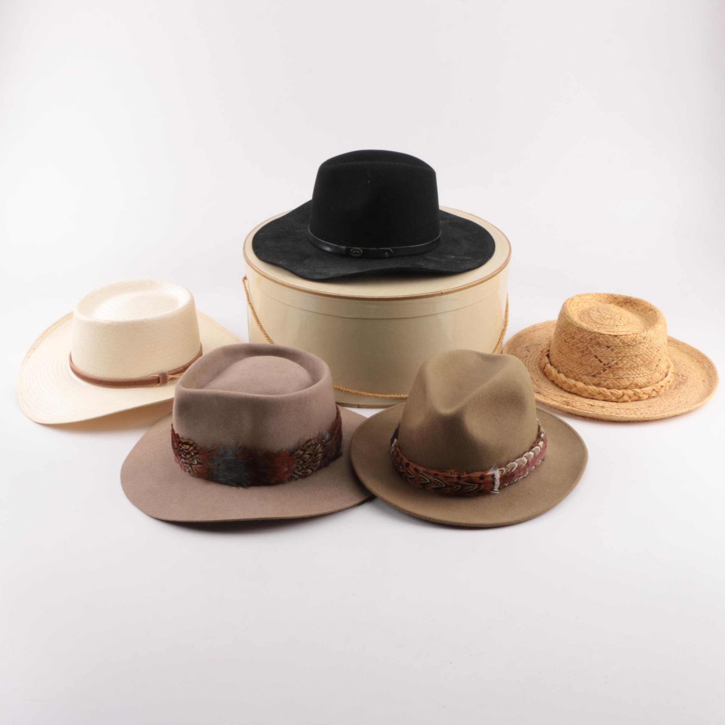 Men's Vintage Hats Including Orvis and Silver Canyon