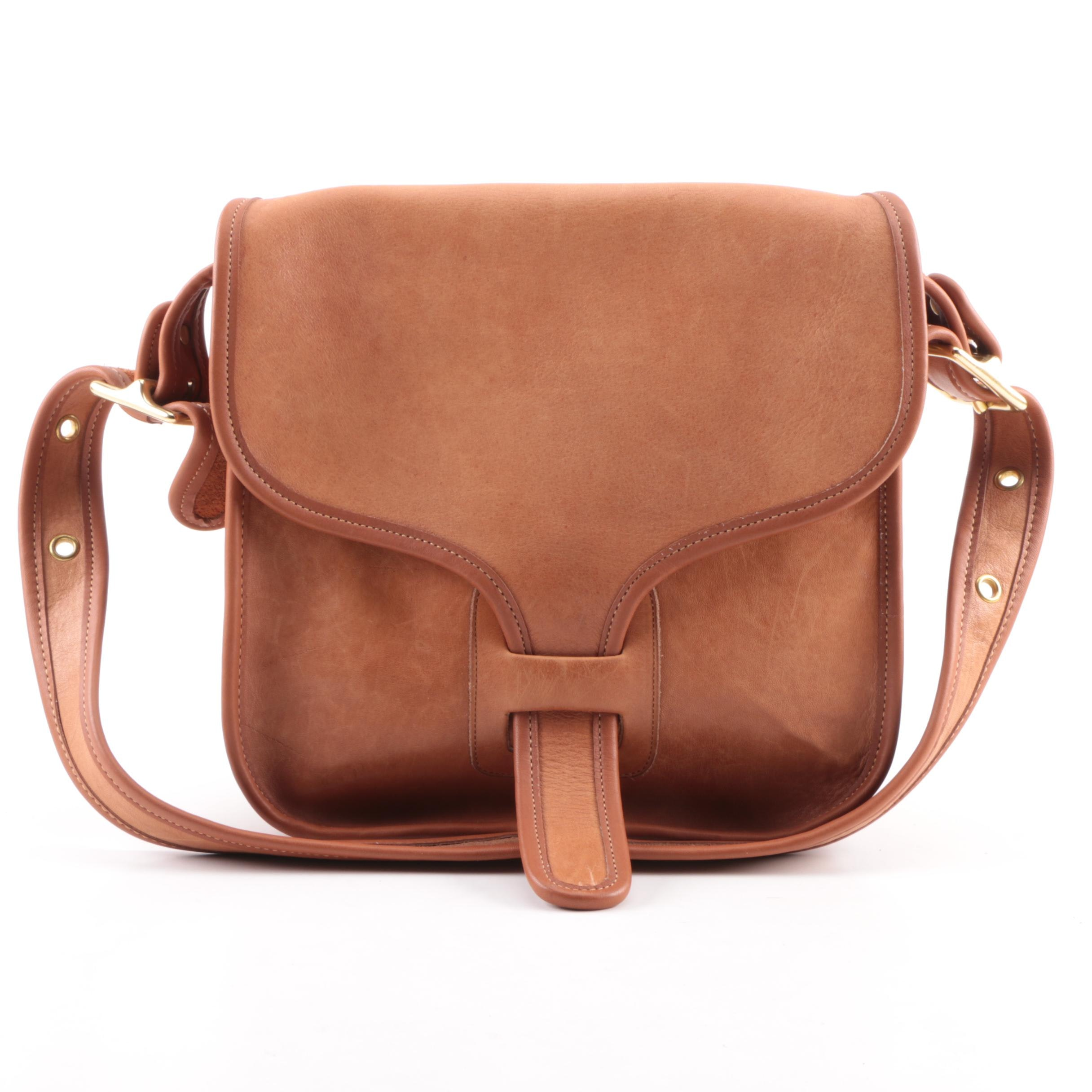 Circa 1970s Coach Rodarte Courier Brown Leather Bag