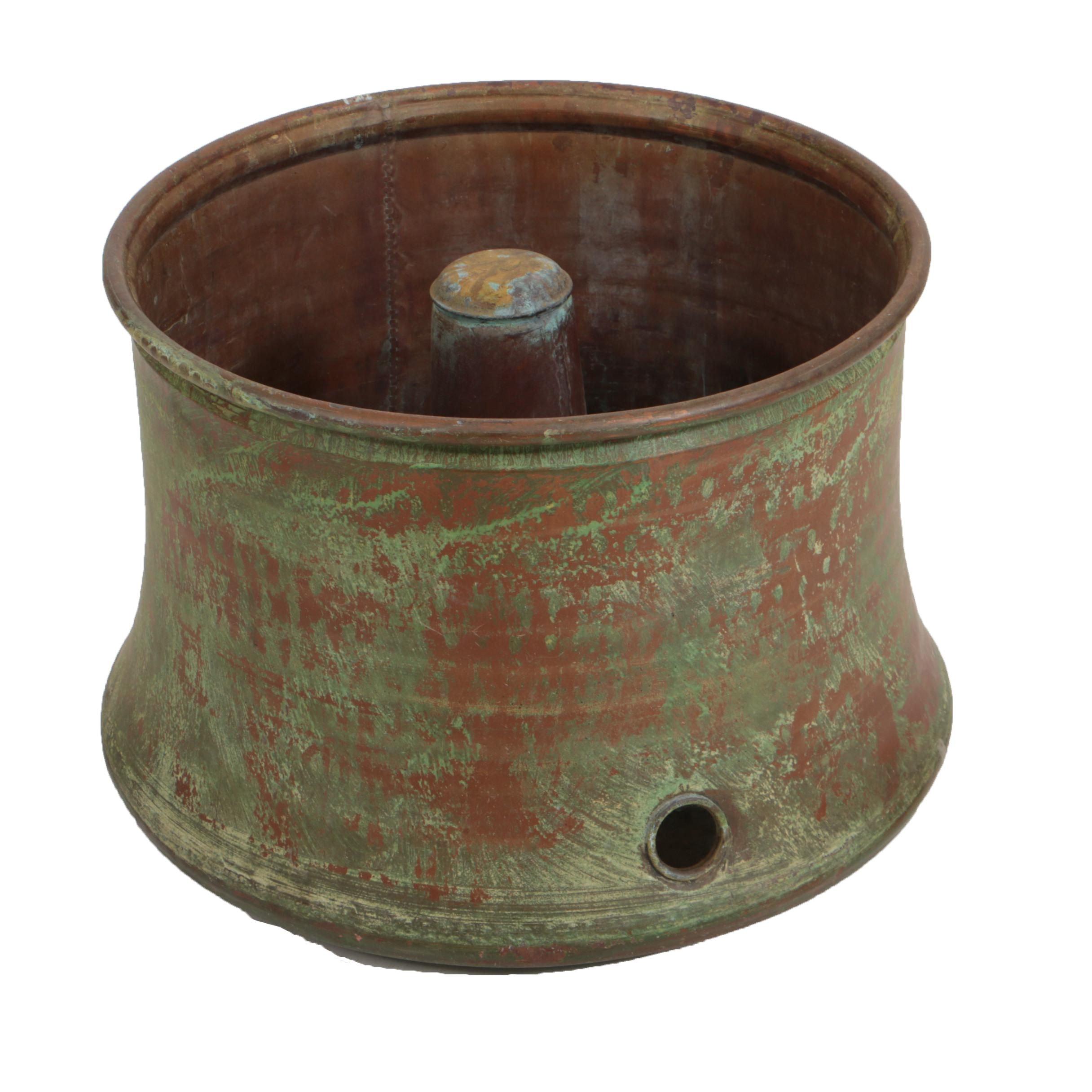 Copper Garden Hose Storage Pot