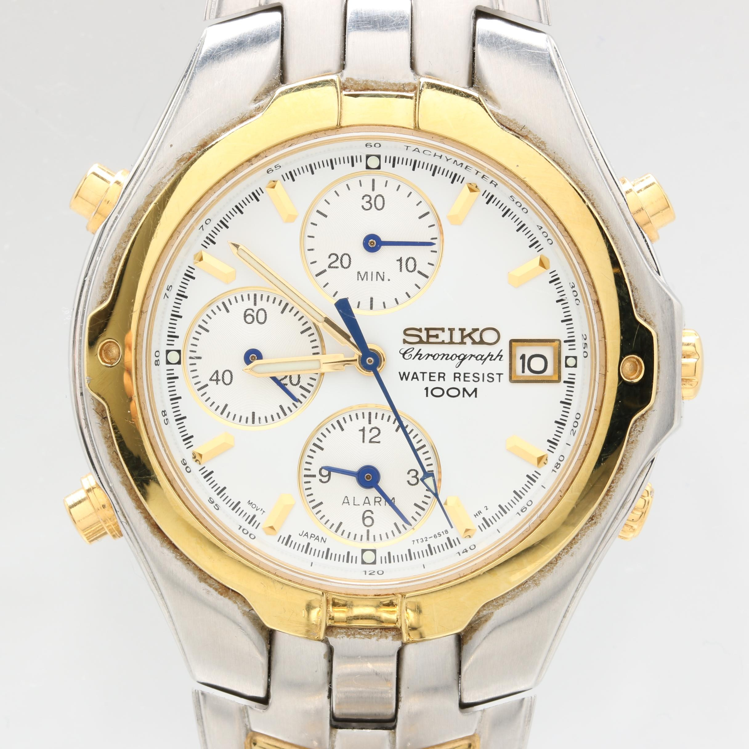 Seiko Chronograph Stainless Steel Wristwatch