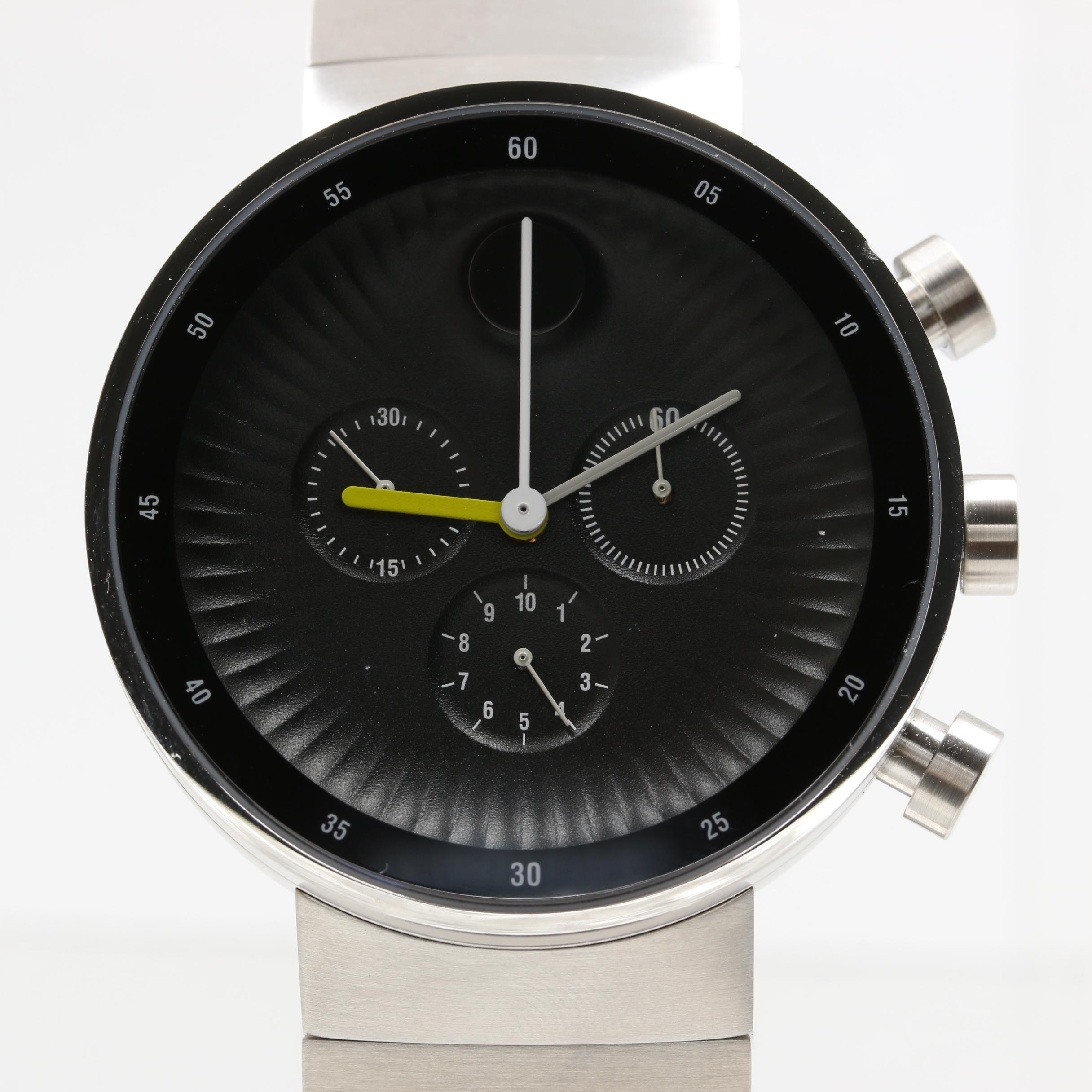 "Movado ""Edge"" Stainless Steel Wristwatch"