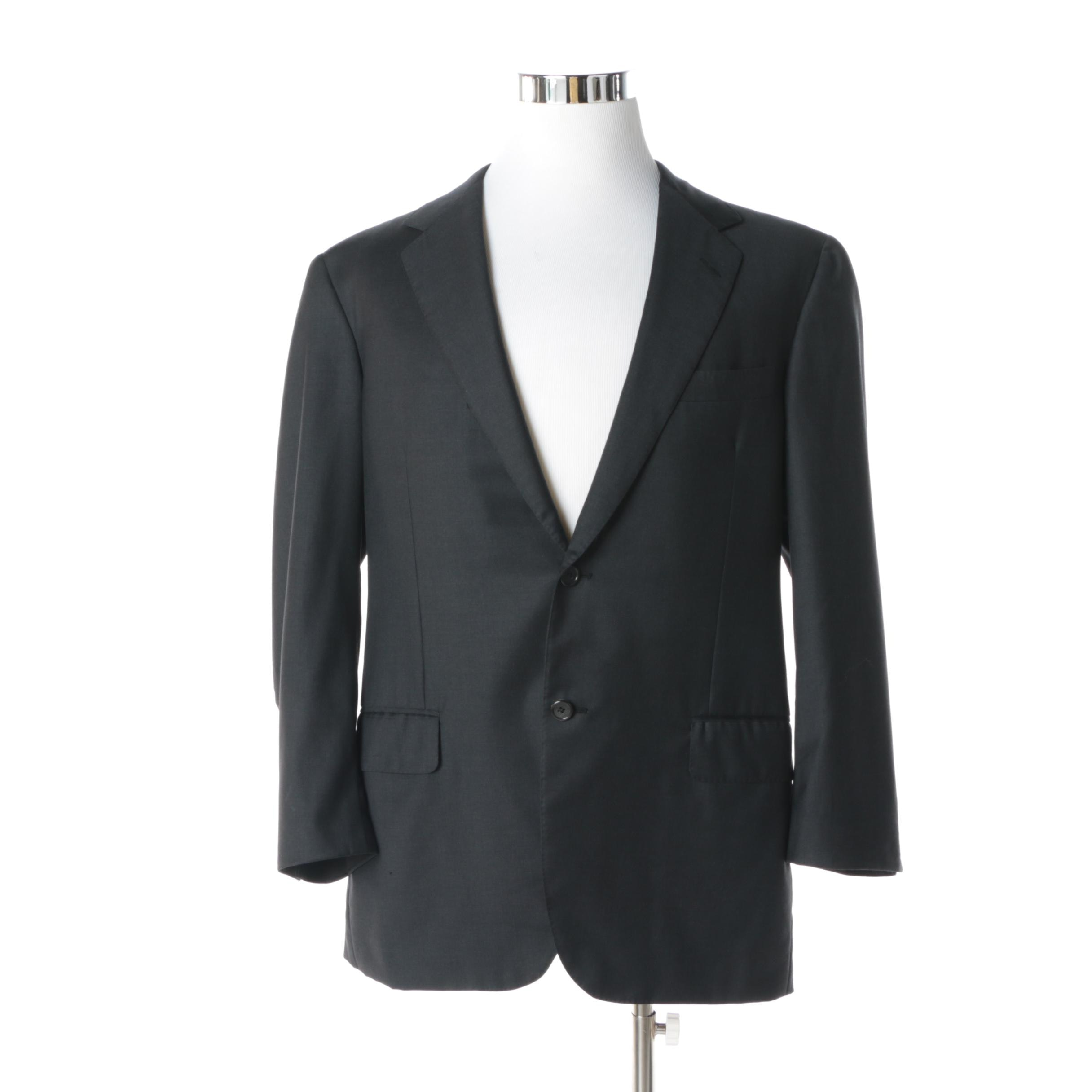Men's Oxford Clothes for Mosher's Charcoal Wool Blend Blazer